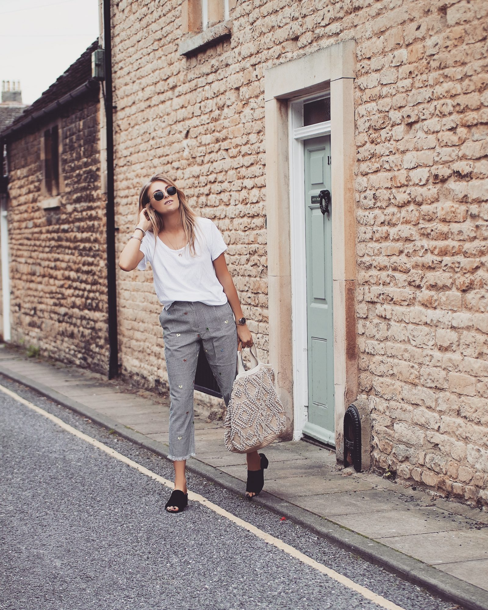 Topshop Gingham Trousers - Non Denim Bottoms - Street Style