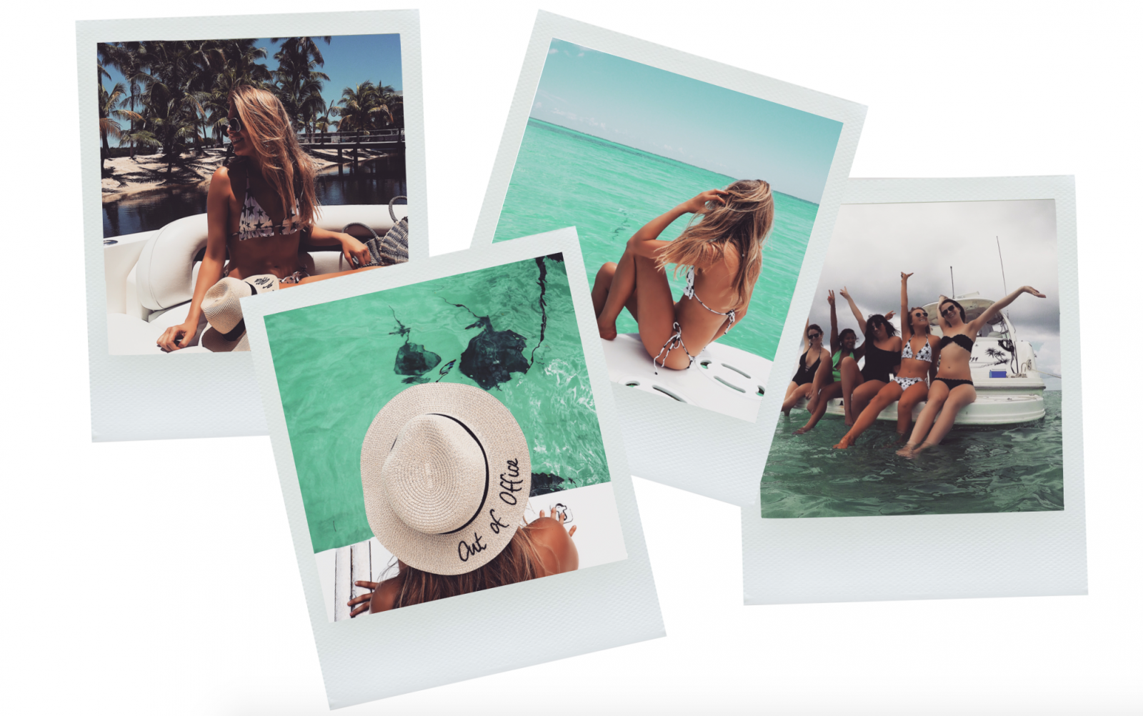 Cayman Islands Swimming with Stingray Polaroids