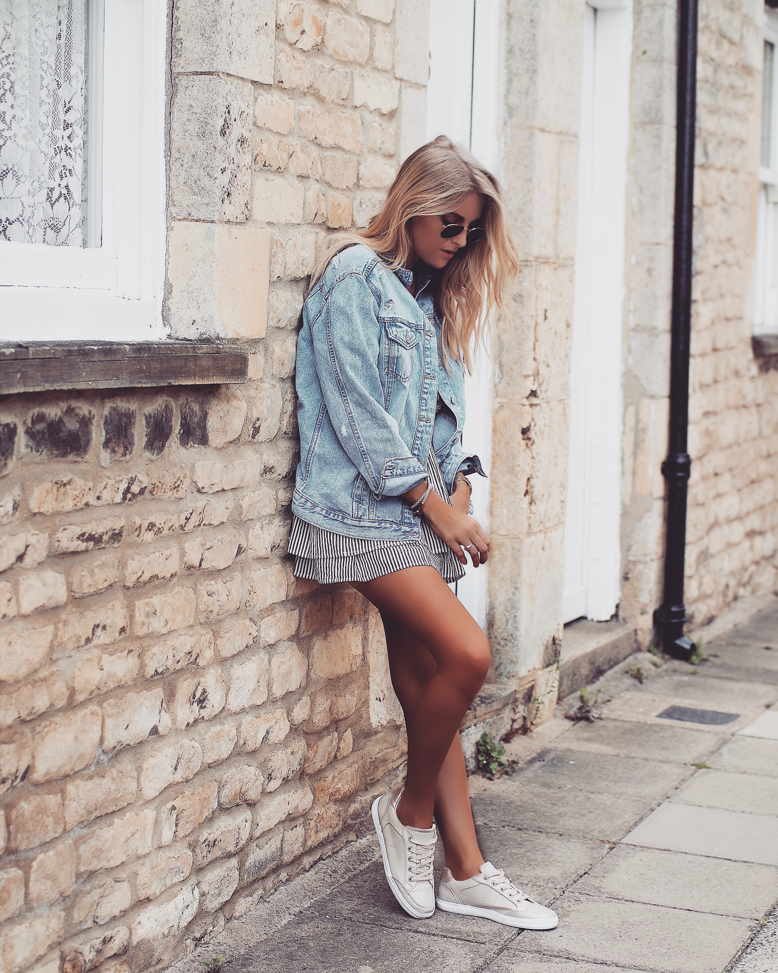 Festival Look - Distressed Denim Jacket