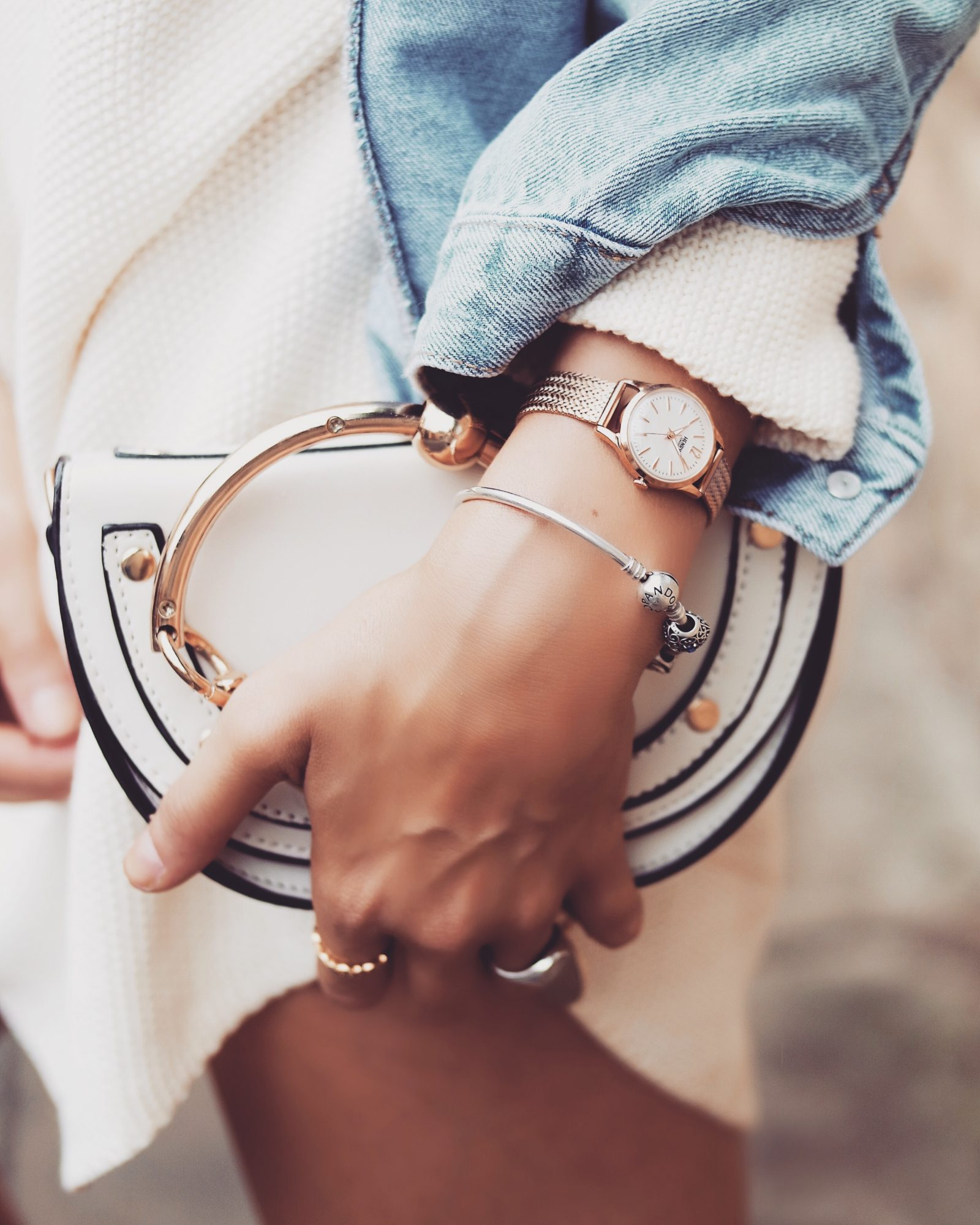 Henry London Rose Gold Watch - Chloe Dupe Bag