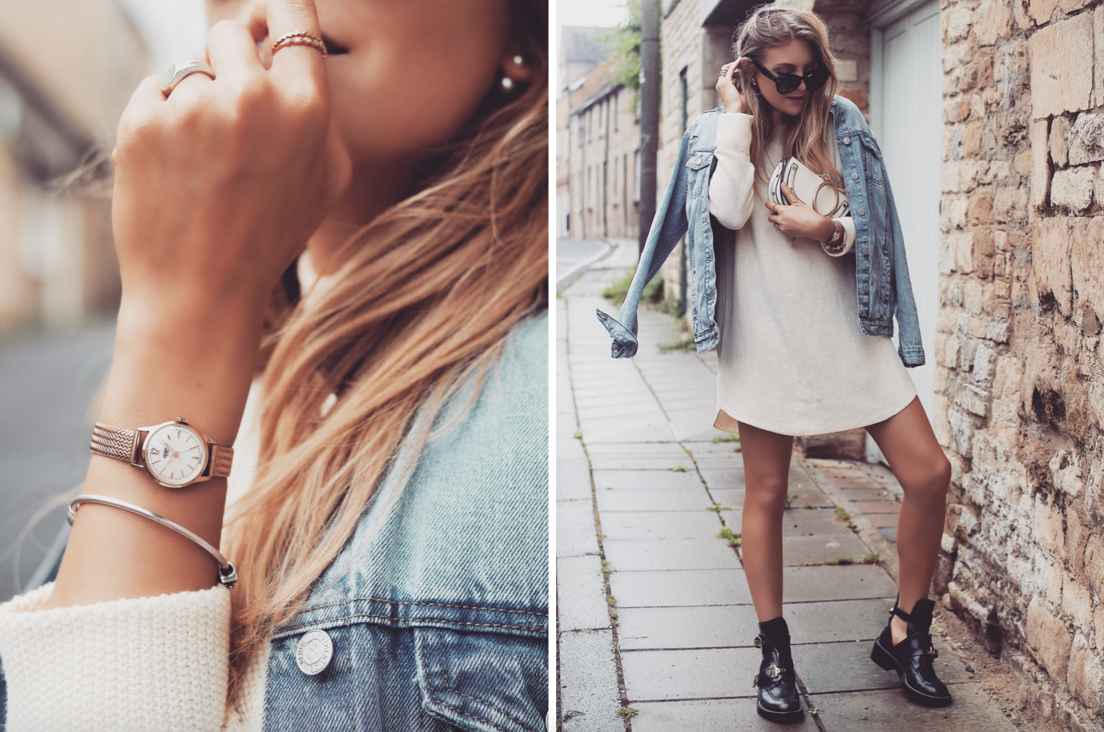 Henry London Rose Gold Watch - Street Style Lookbook