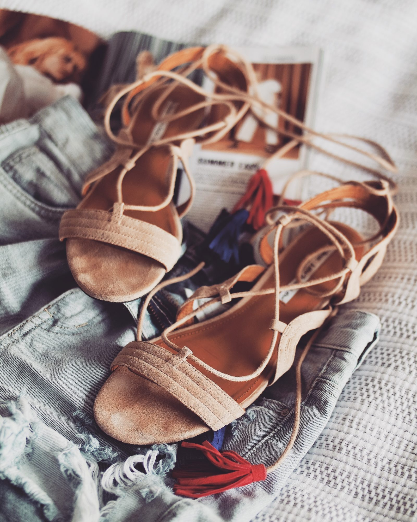 Holiday Packing List - Nude Lace Up Sandals