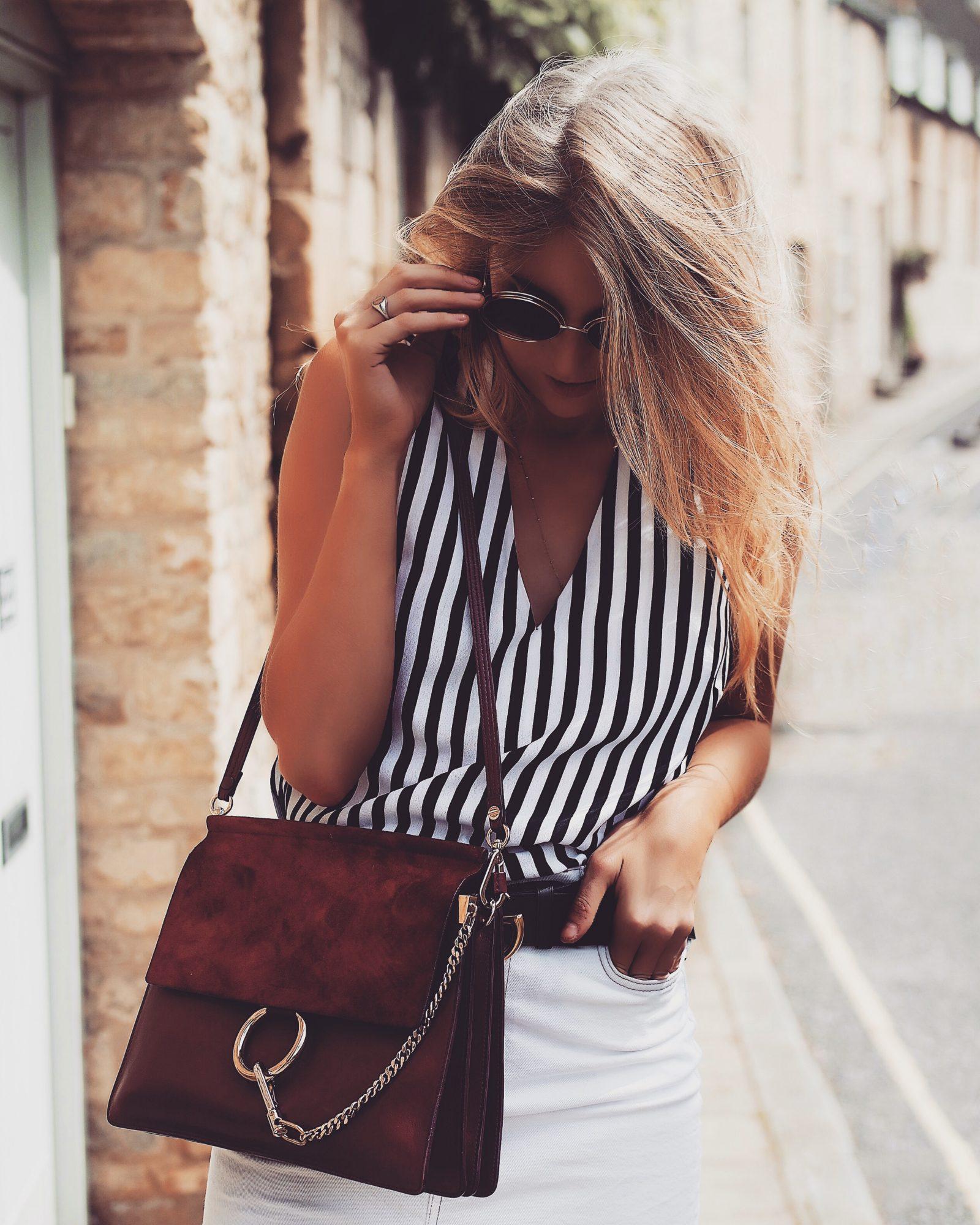 Monochrome Summer Outfit - Burgundy Chloe Faye