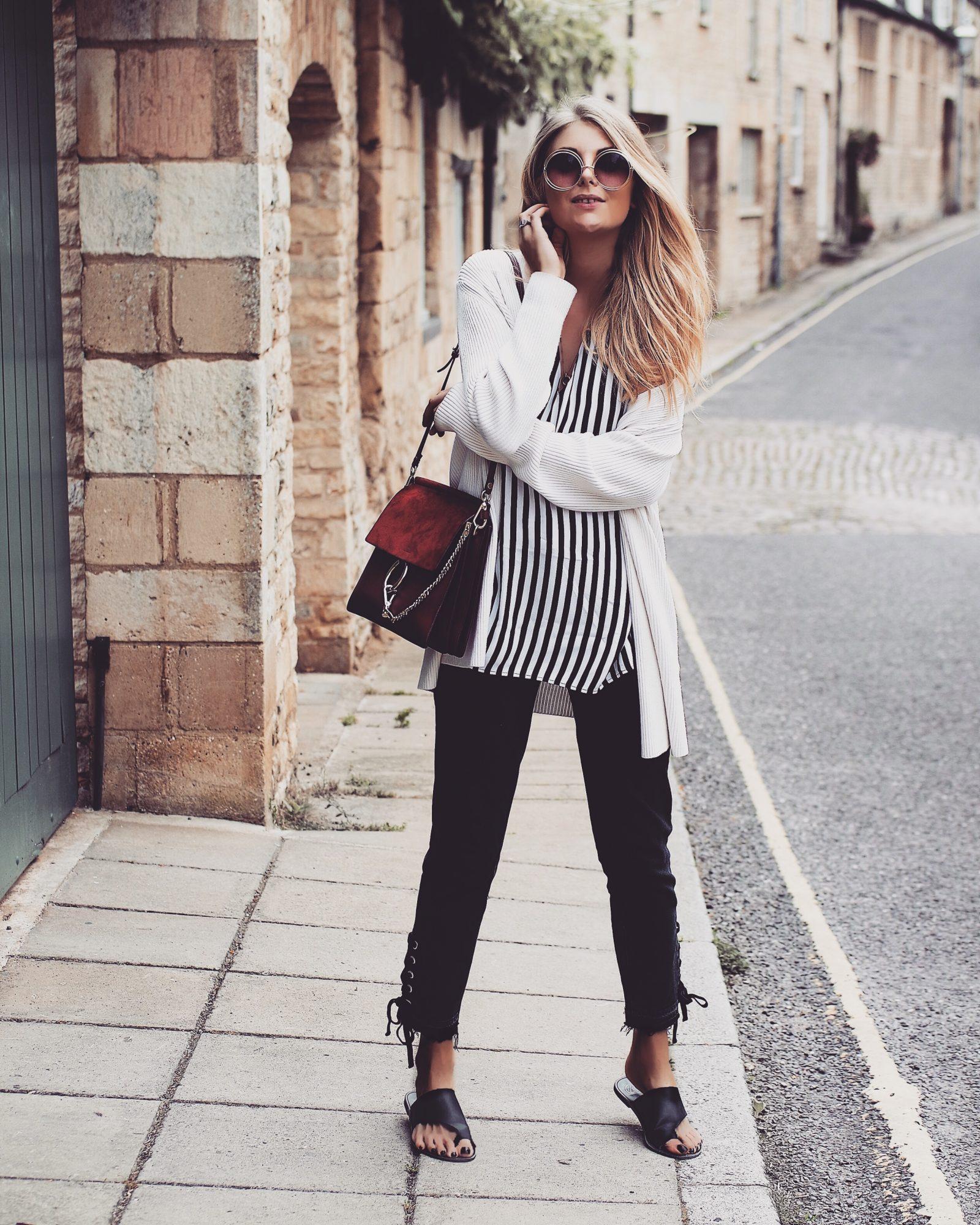 Monochrome Summer Outfit - Paige Denim Black Jeans