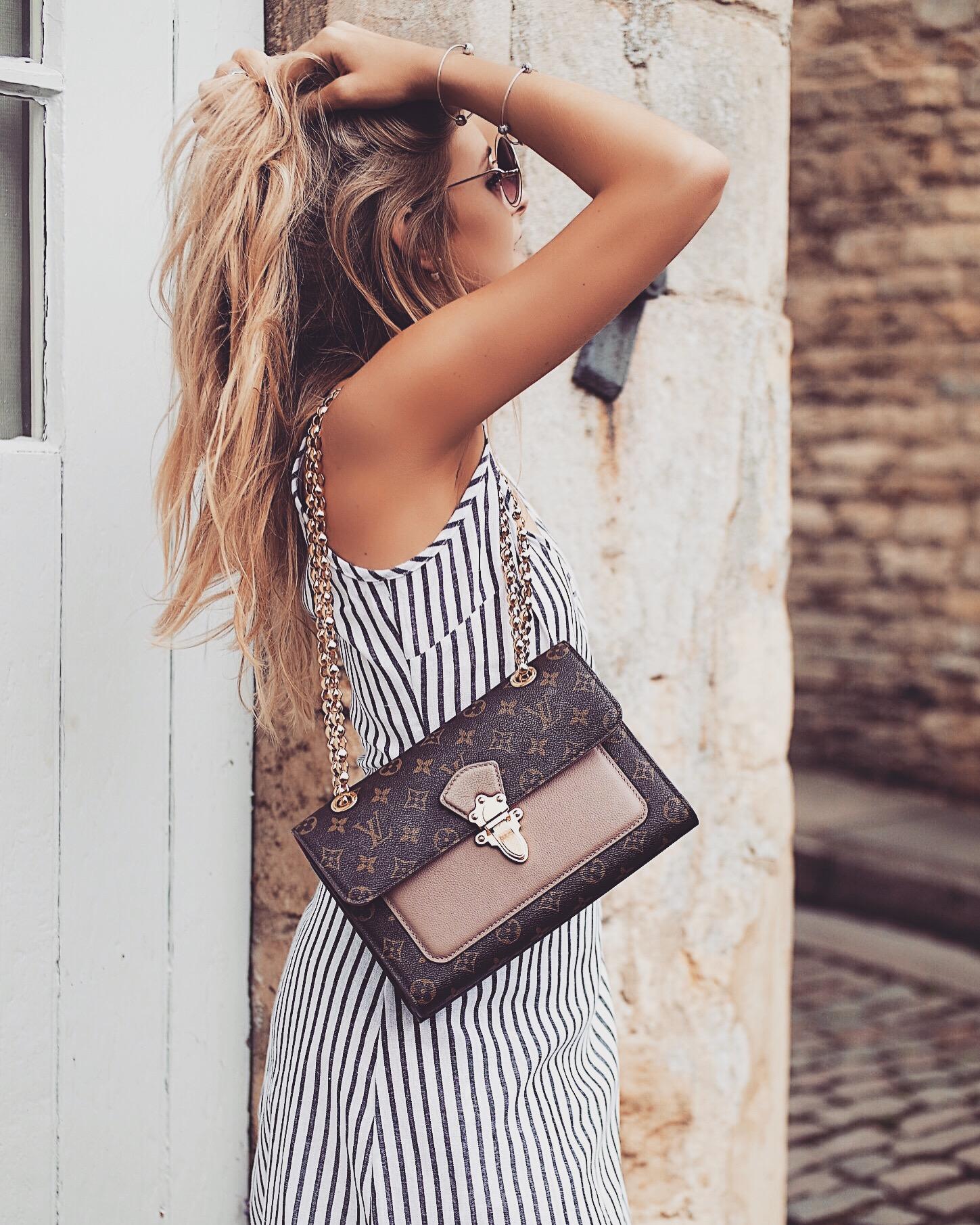 The Wrap Dress -Louis Vuitton Chain Bag