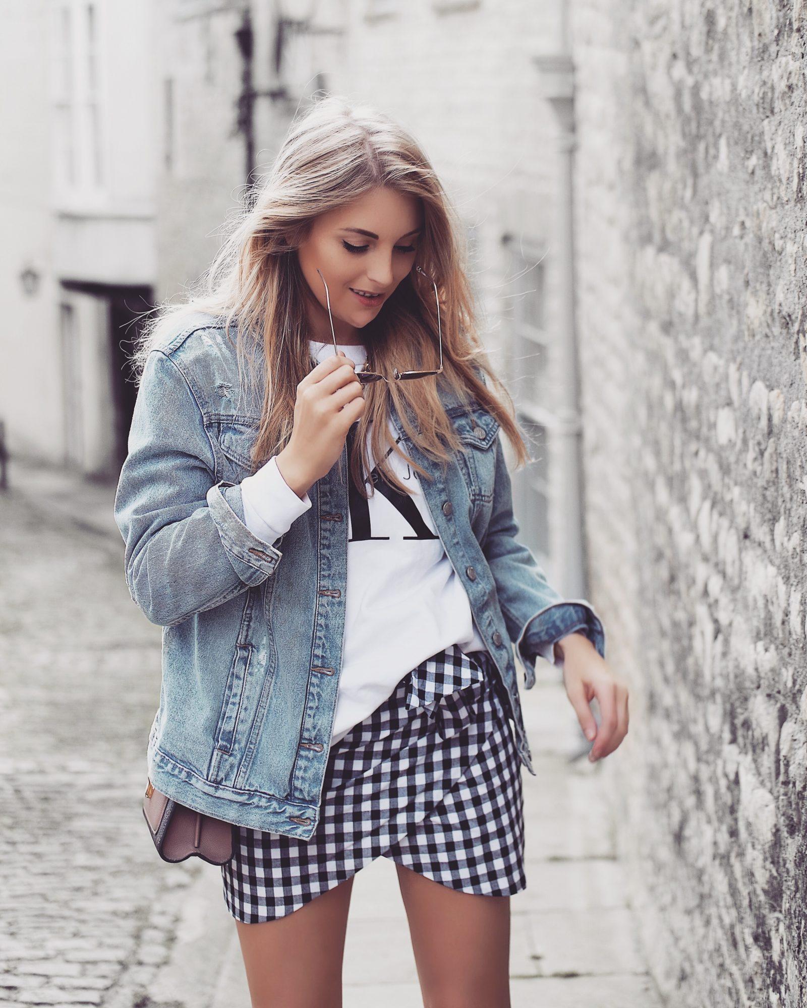 Gingham Skirt - Calvin Klein Sweatshirt