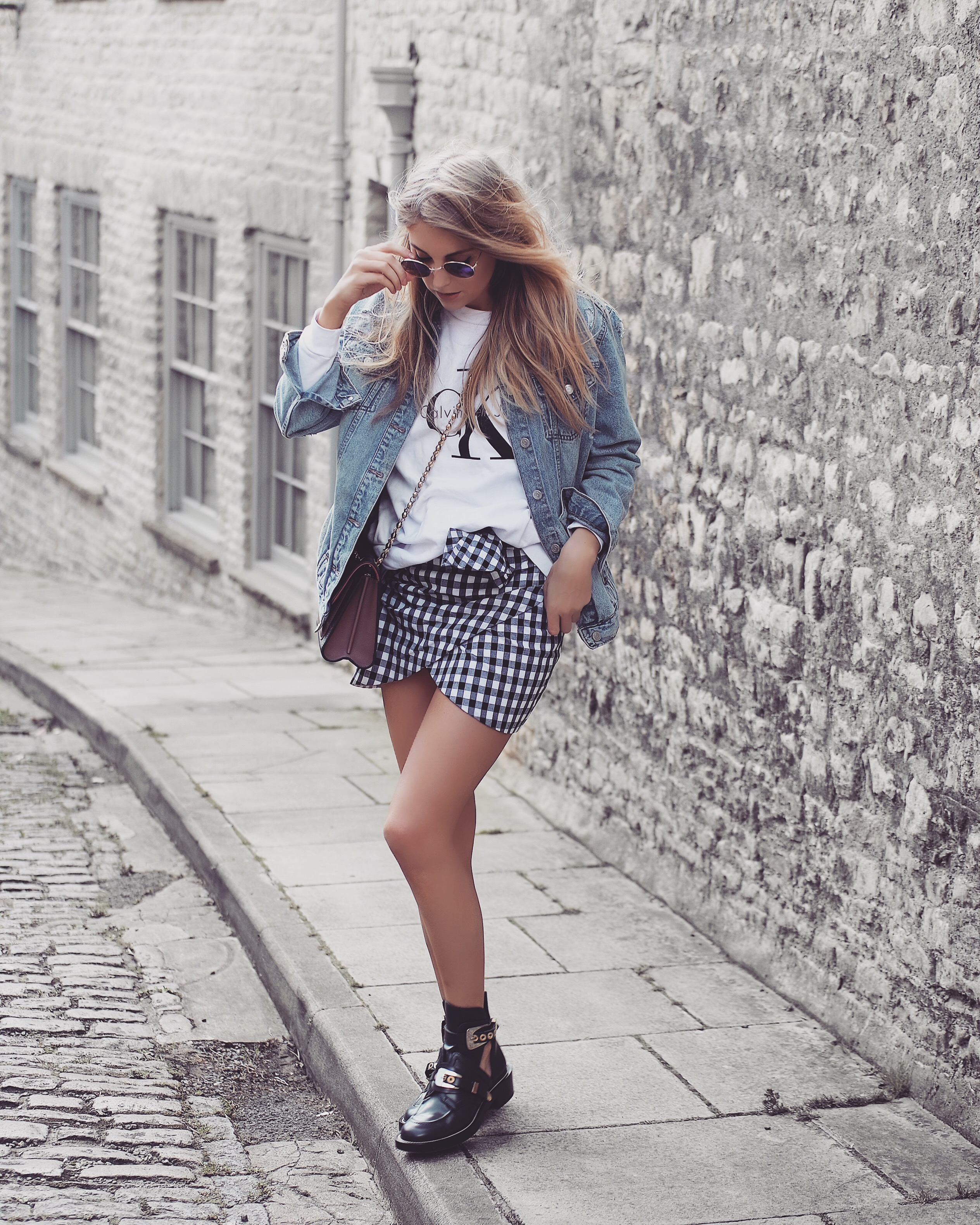 Gingham Skirt Outfit Inspiration Love Style Mindfulness Fashion Personal Style Blog