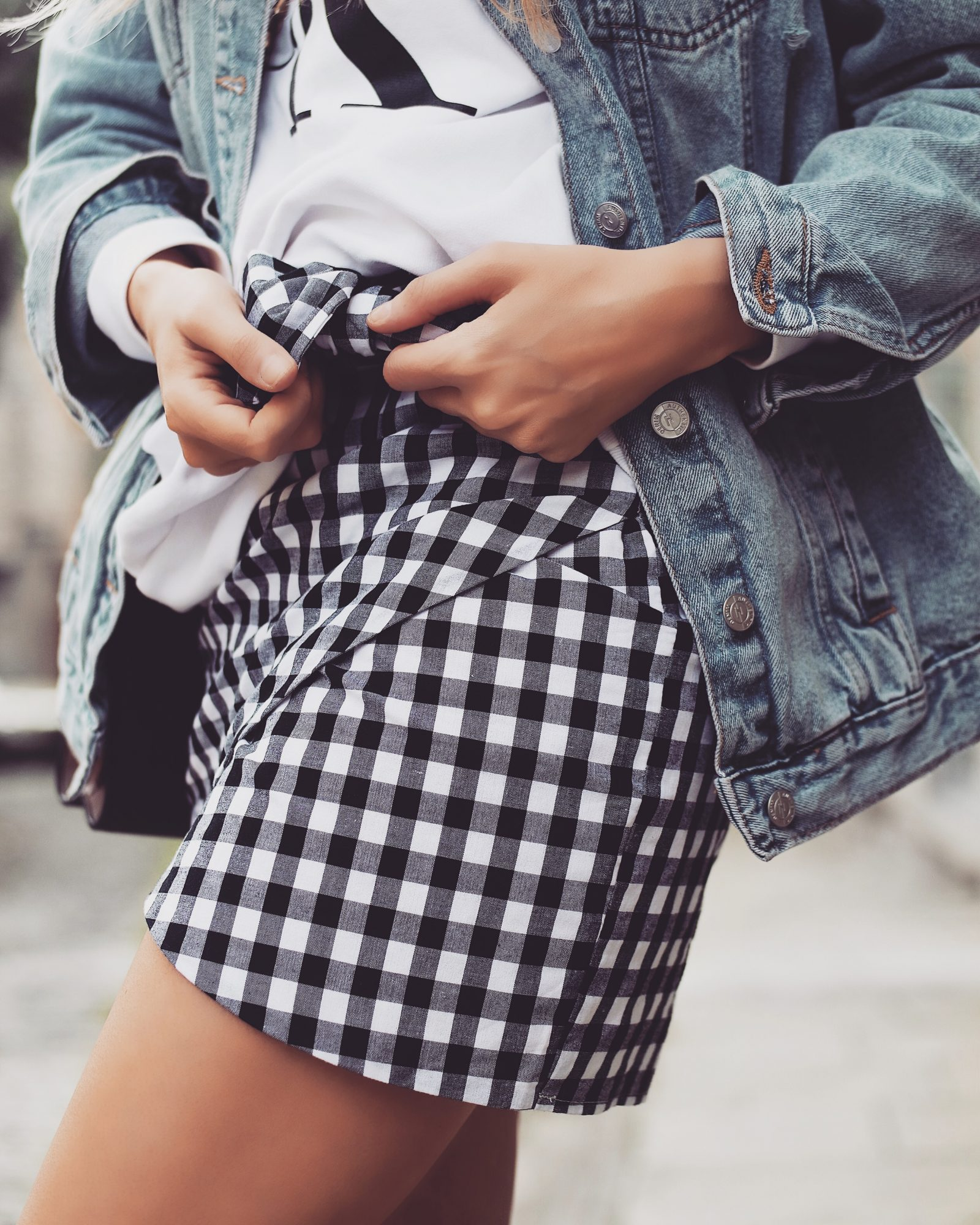 Gingham Skirt - Wrap Skirt