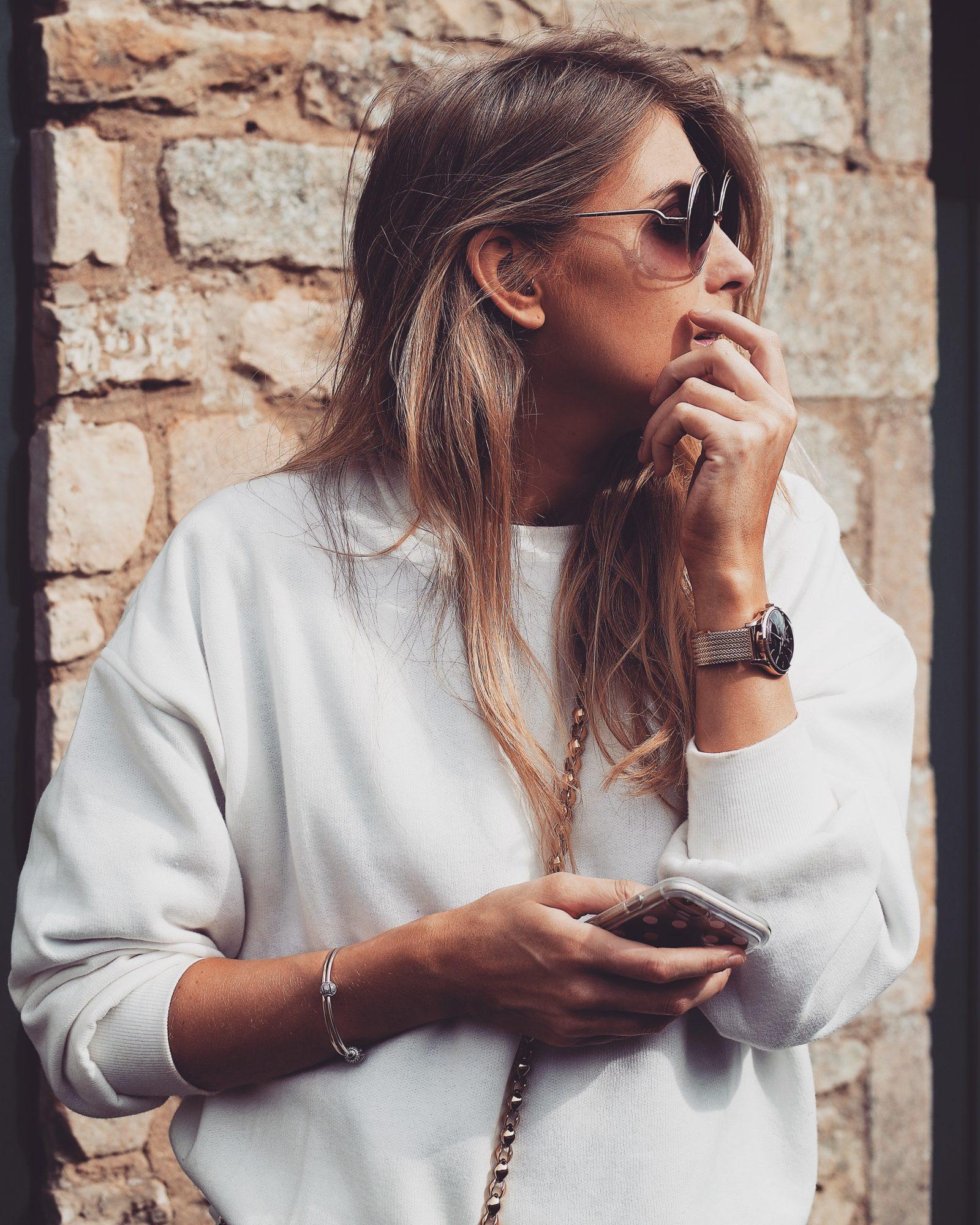 Real Time Haul - White Sweatshirt