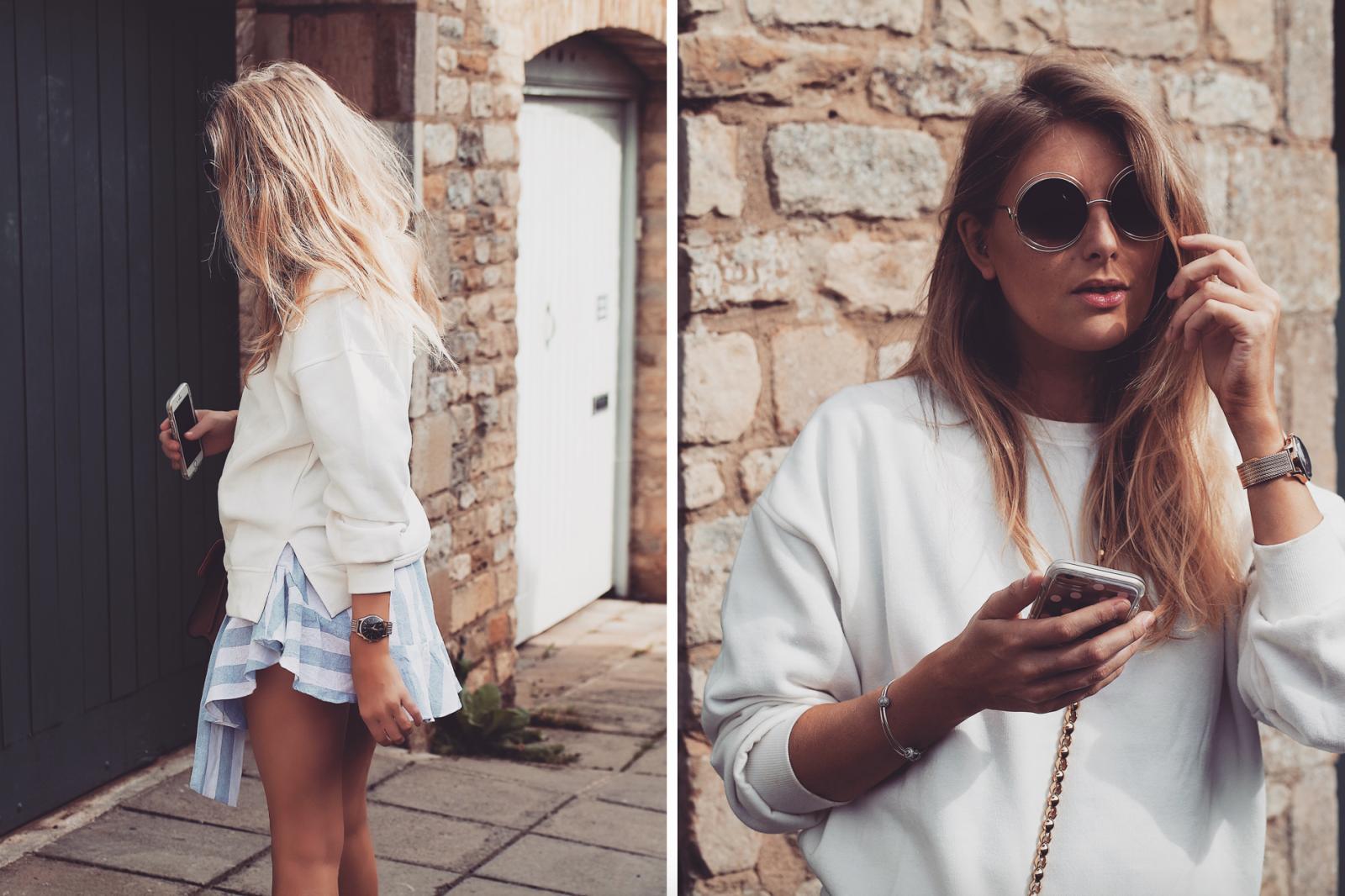 Real Time Haul - White Sweatshirt, Fashion Blogger Street Style