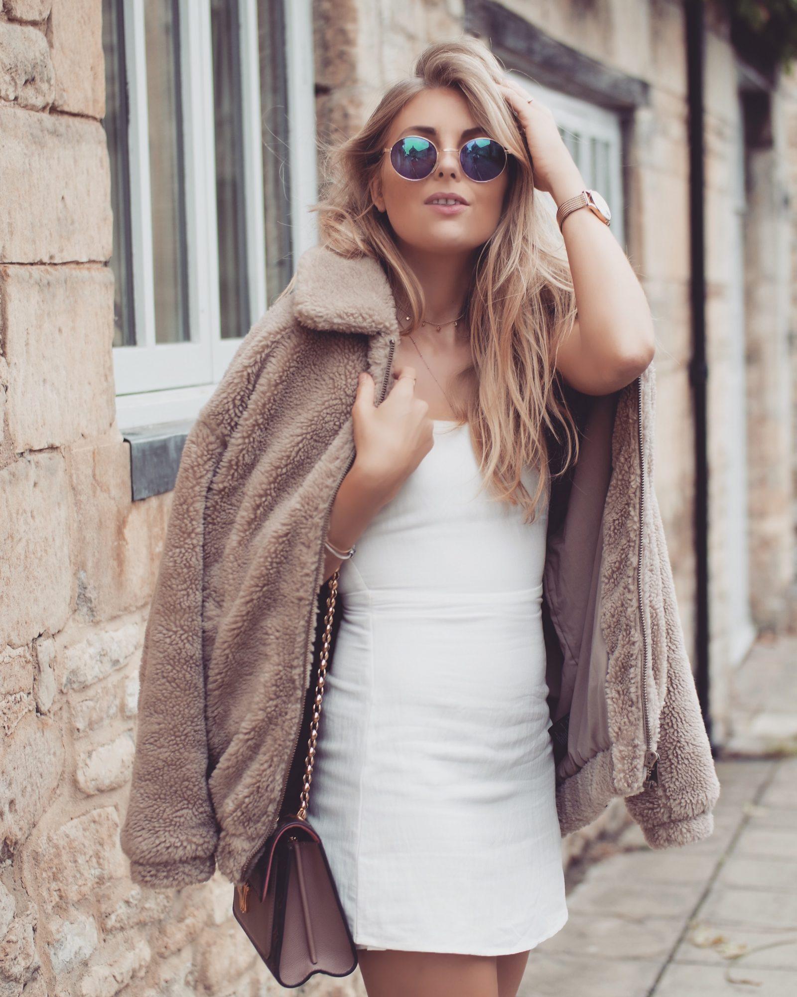 Teddy Coat - Little White Dress