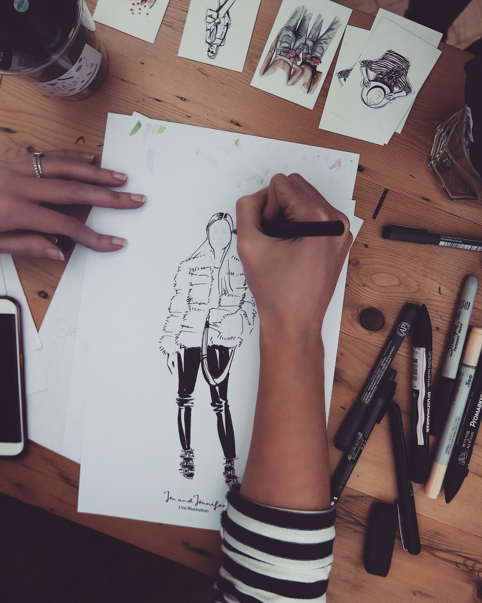 Hotel Indigo Kensington - Fashion Illustration