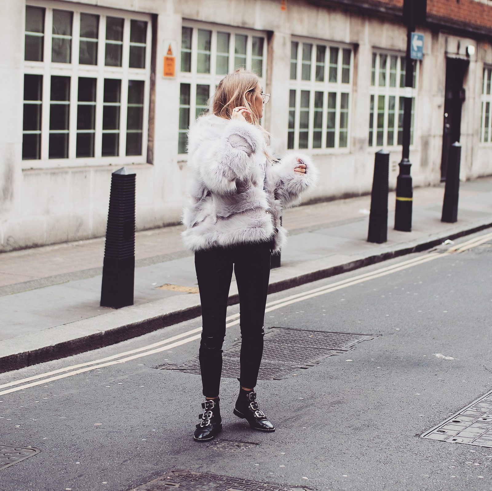 LFW Outfit - Fluffy Coat