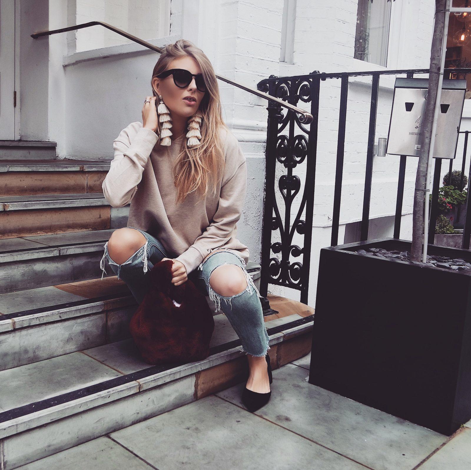 LFW Outfit -Tassel Earrings