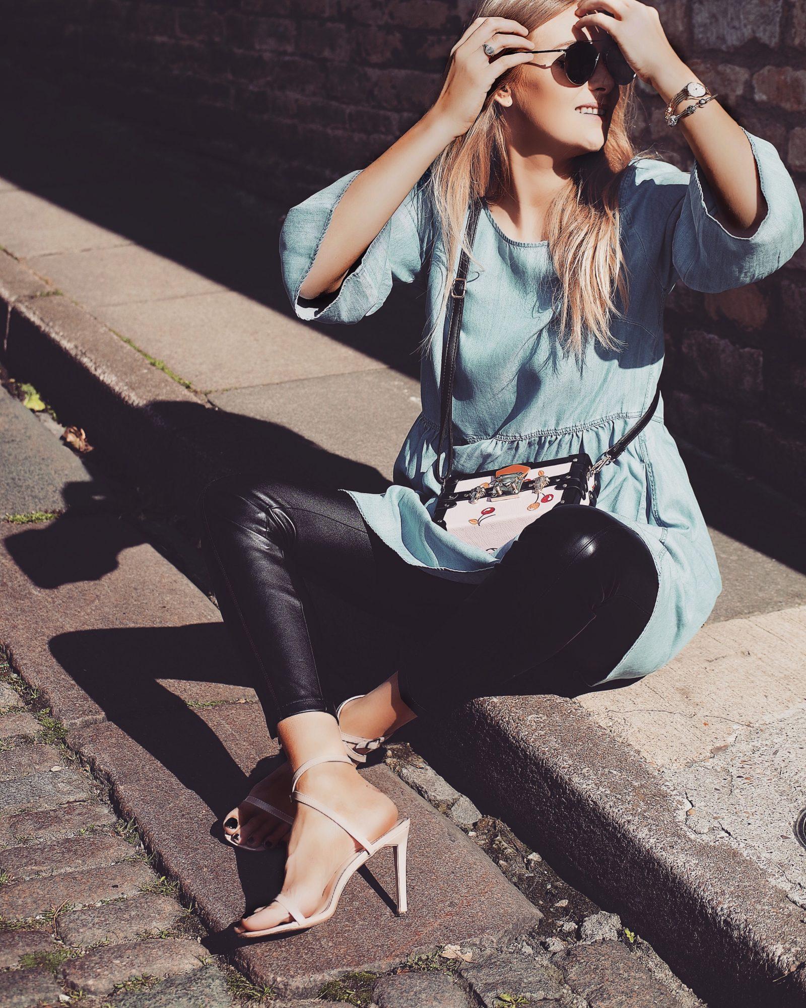 LFW Street Style - Denim Tunic