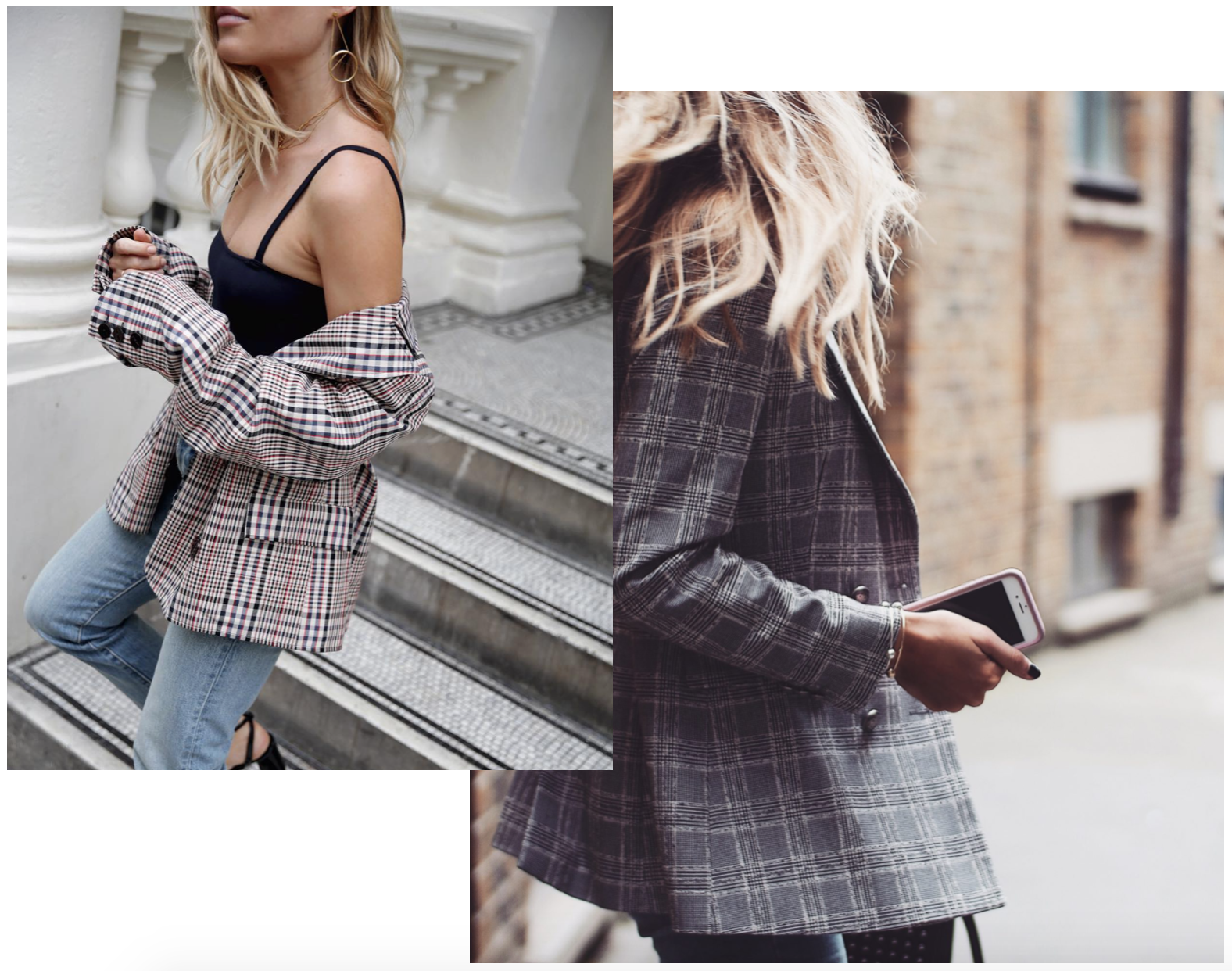 Prince Of Wales Check Blazer - Jess Bush