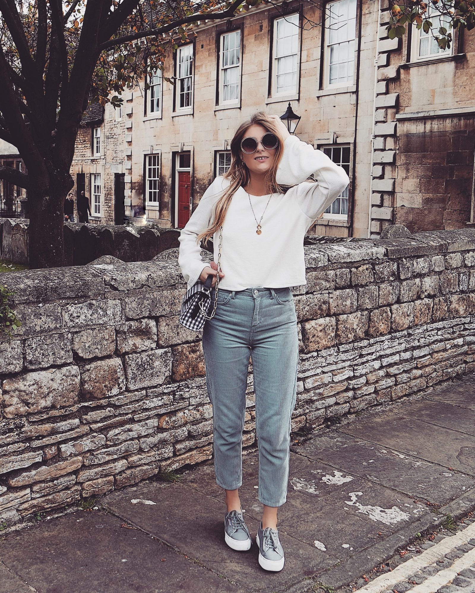 Blue Corduroy Trousers - Fall Outfit Inspiration