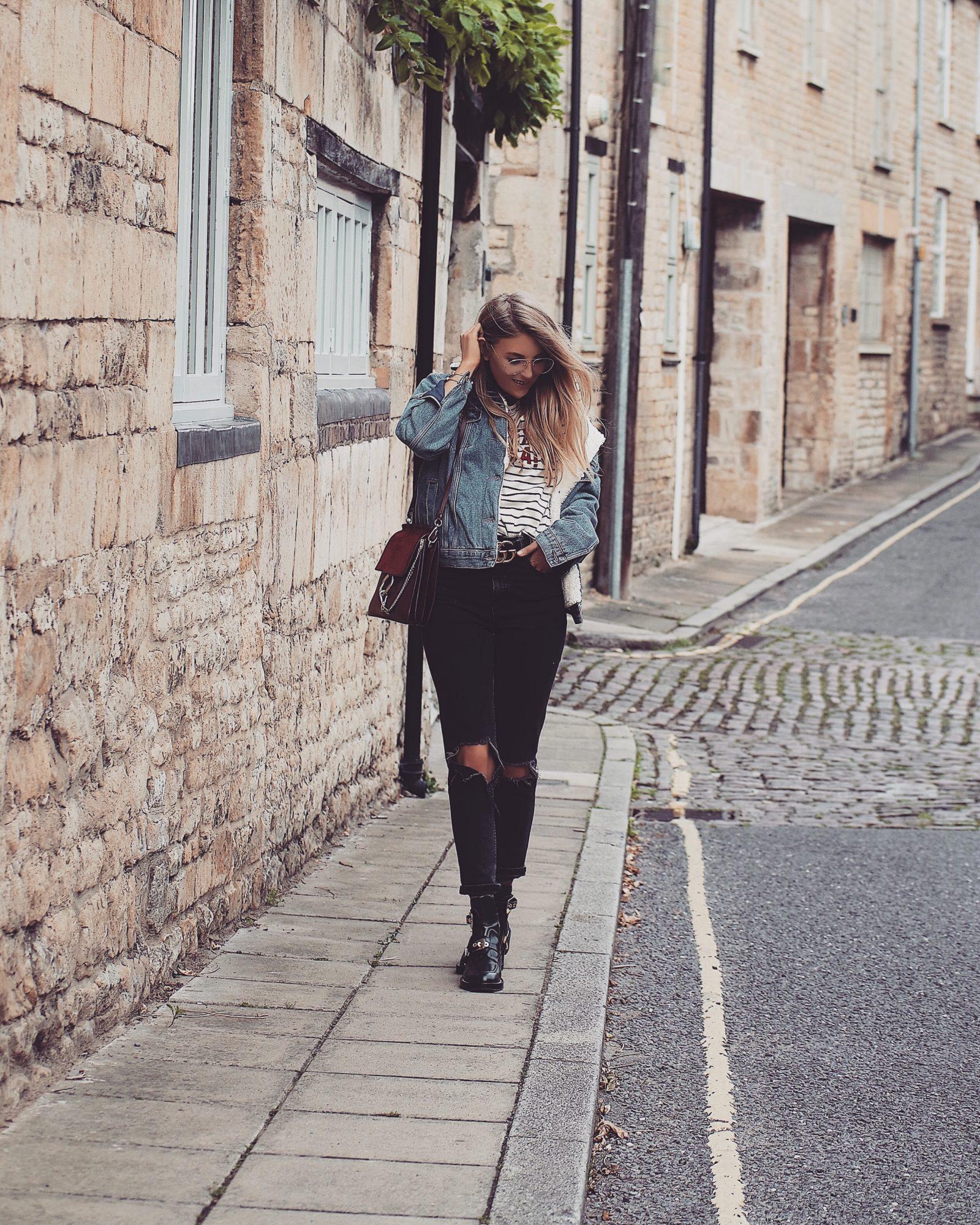 Denim Shearling Jacket - Outfit Inspiration