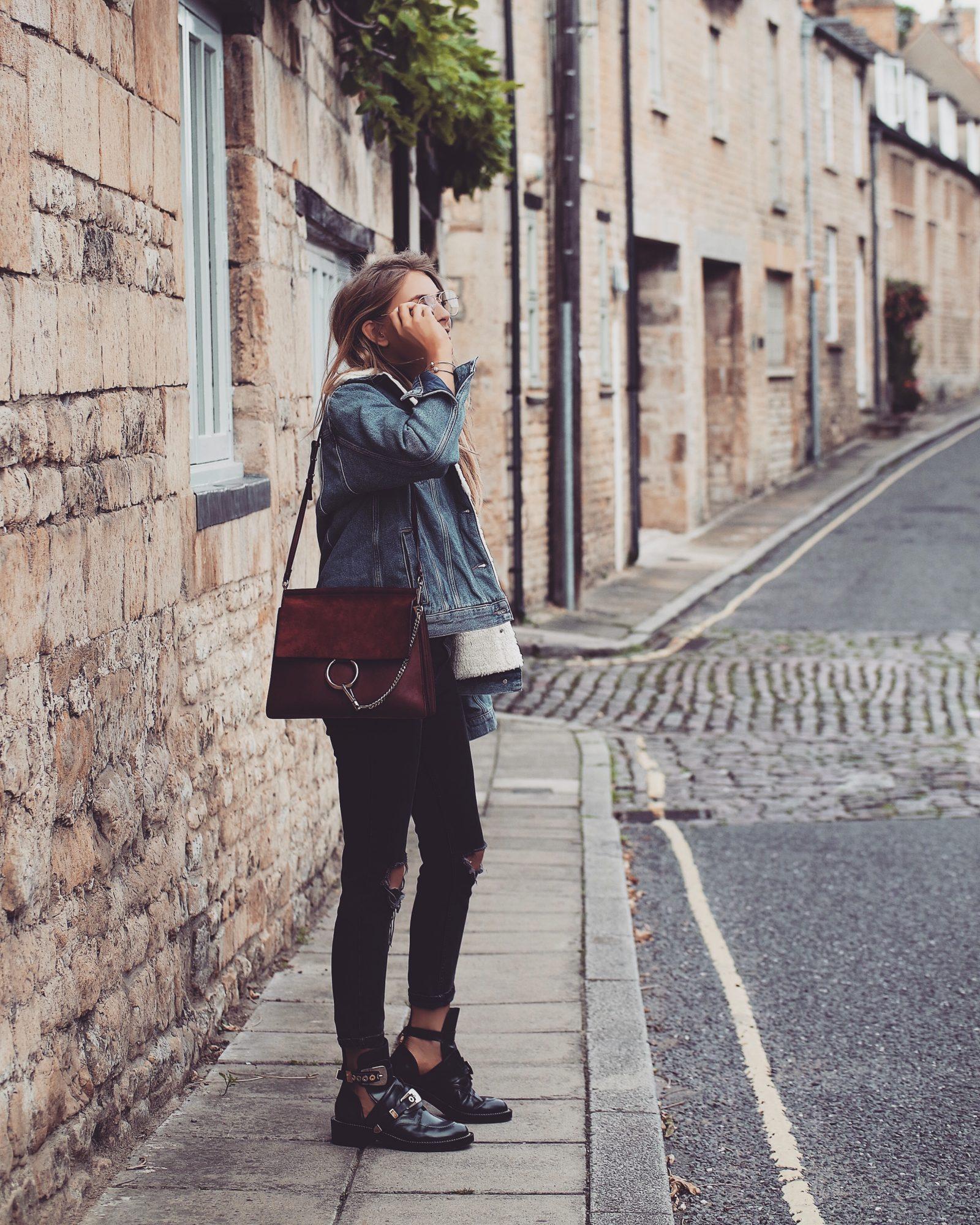 Denim Shearling Jacket - Style Inspiration