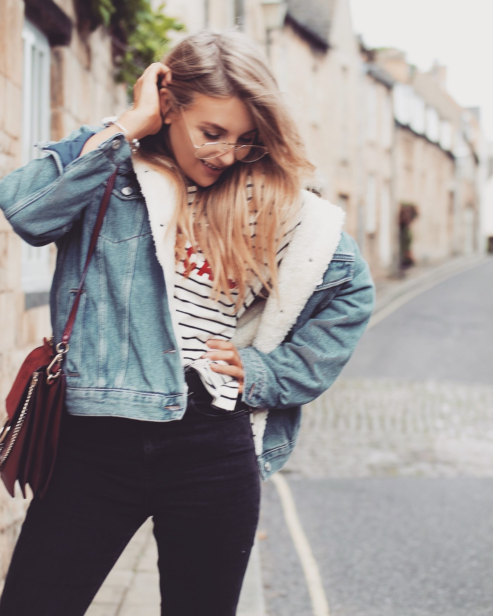 Denim Shearling Jacket - Topshop