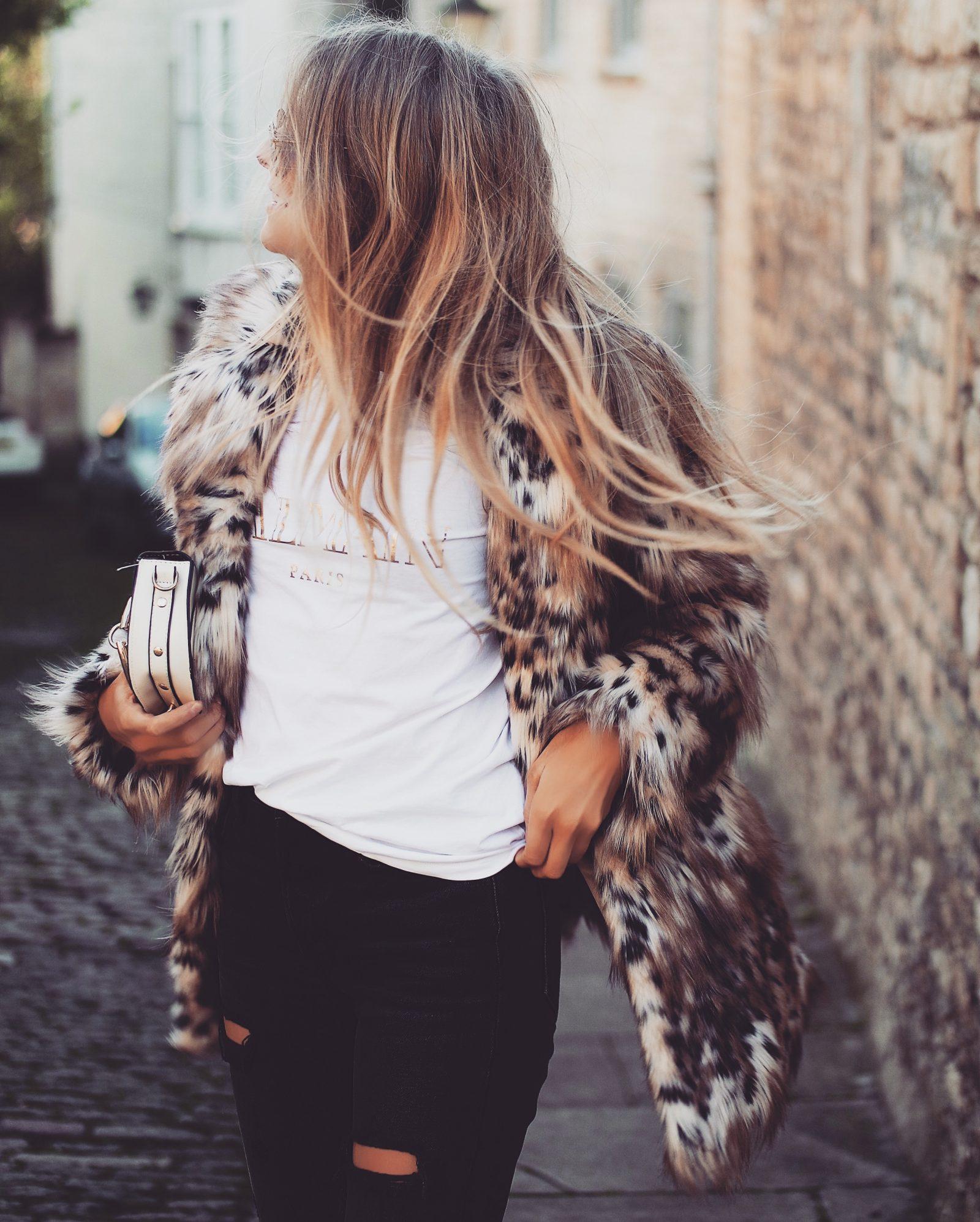 Leopard Print Coat - Balmain T Shirt
