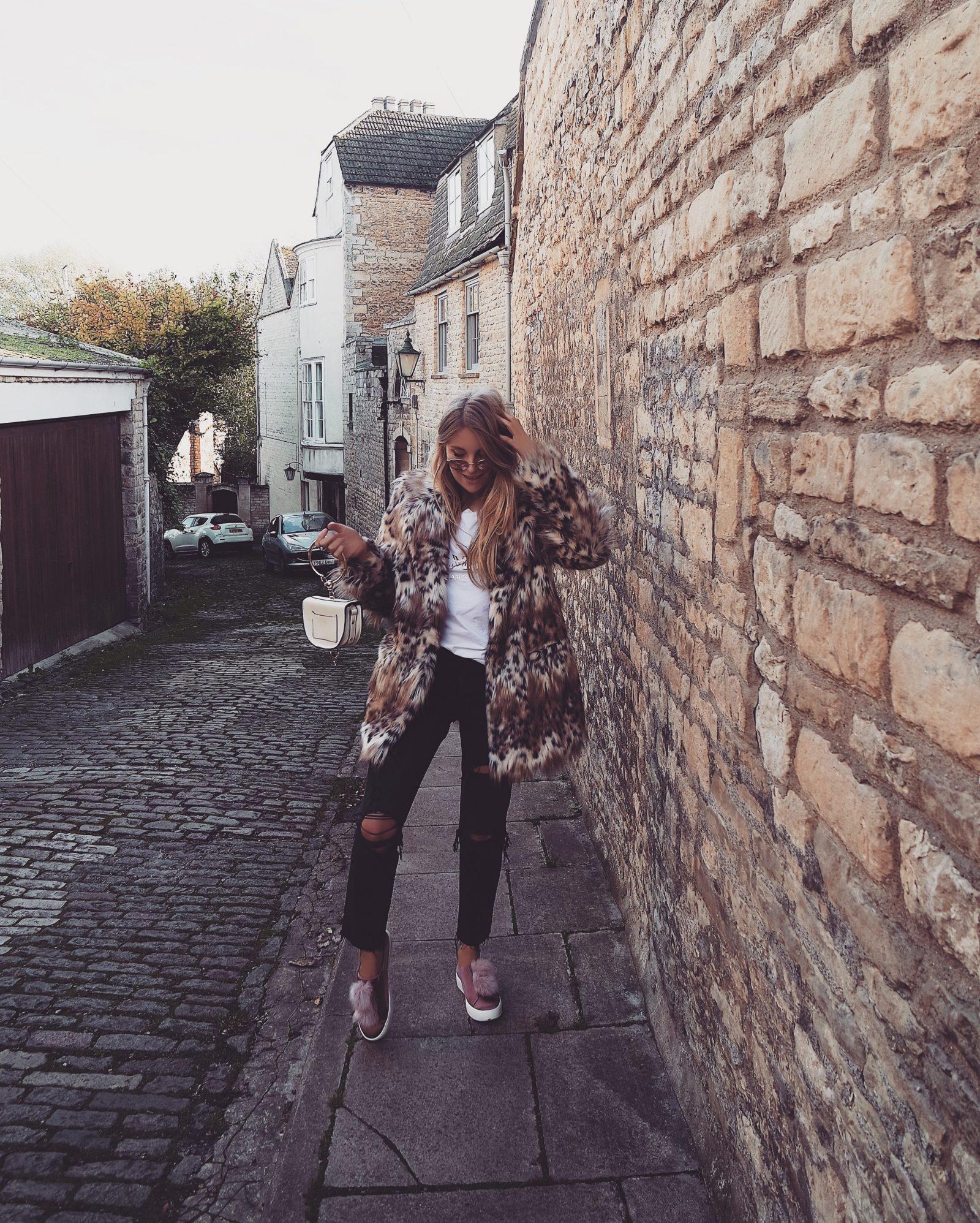 Leopard Print Coat - Street Style