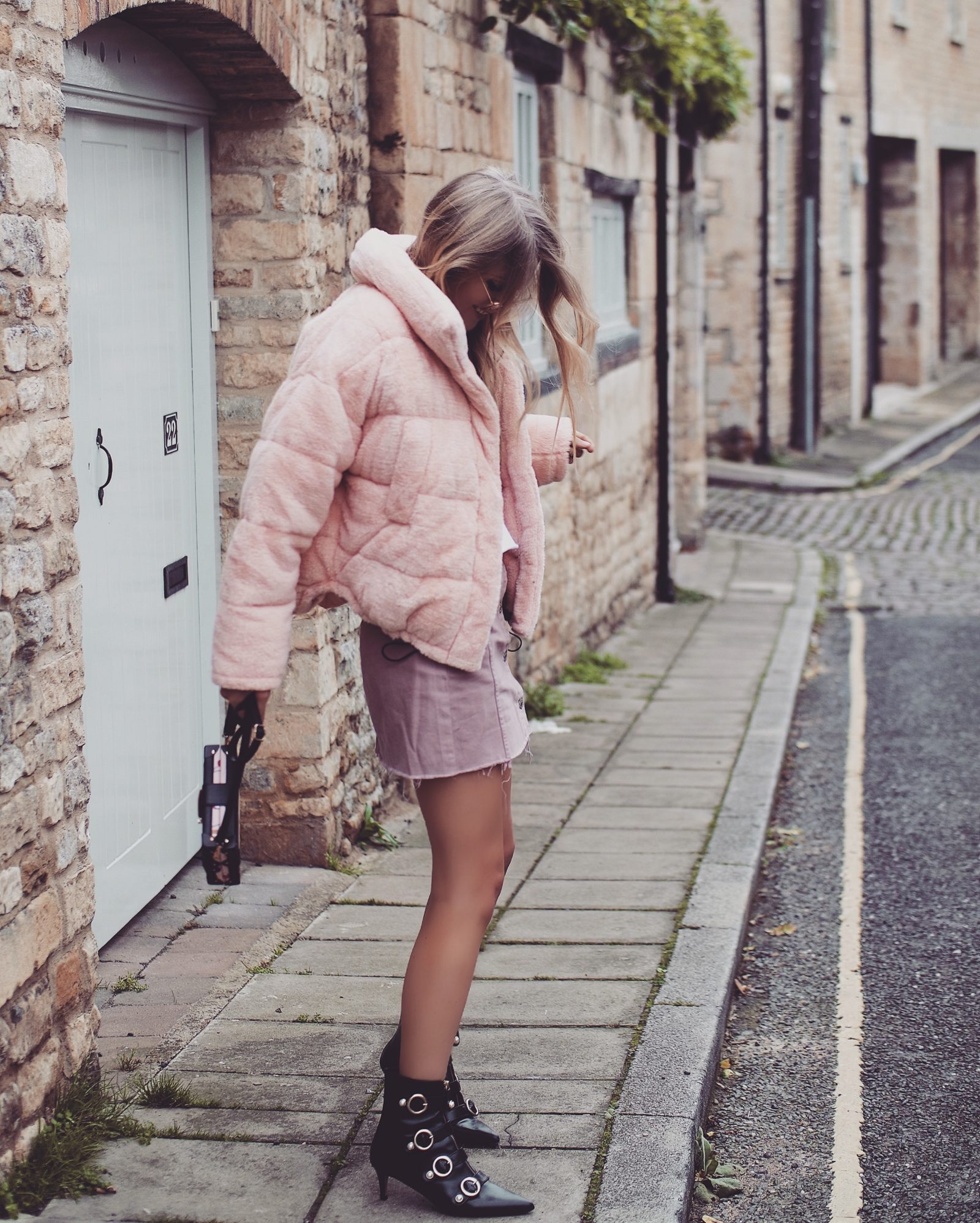 Teddy Puffa Jacket - All Pink Outfit