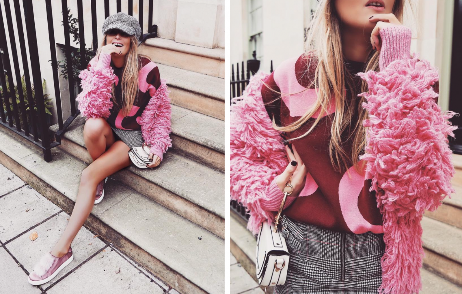 Pink Shaggy Jacket - Outfit Inspiration
