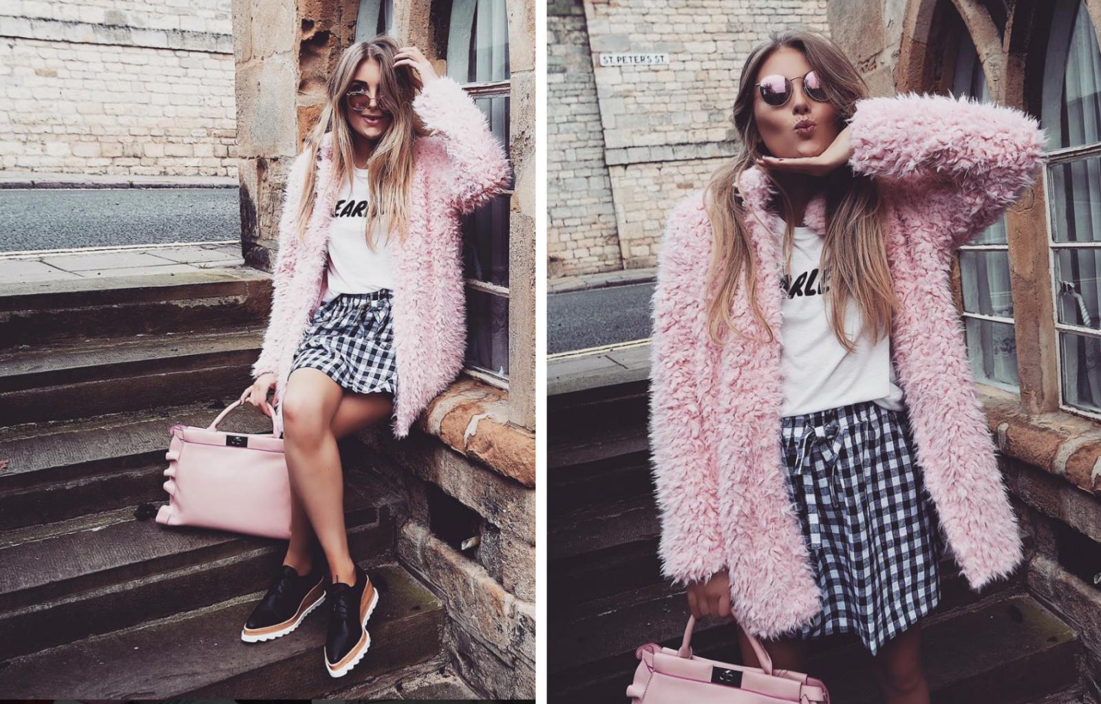 Pink Shaggy Jacket - Street Style