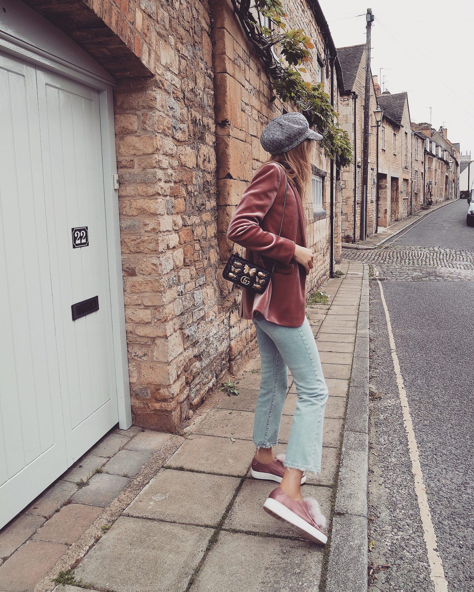 Pink Velvet Blazer - Topshop Denim