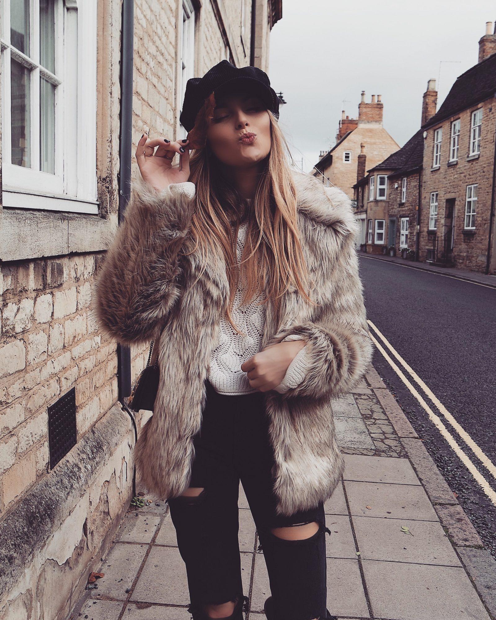 Winter Coat, Faux Fur Coat