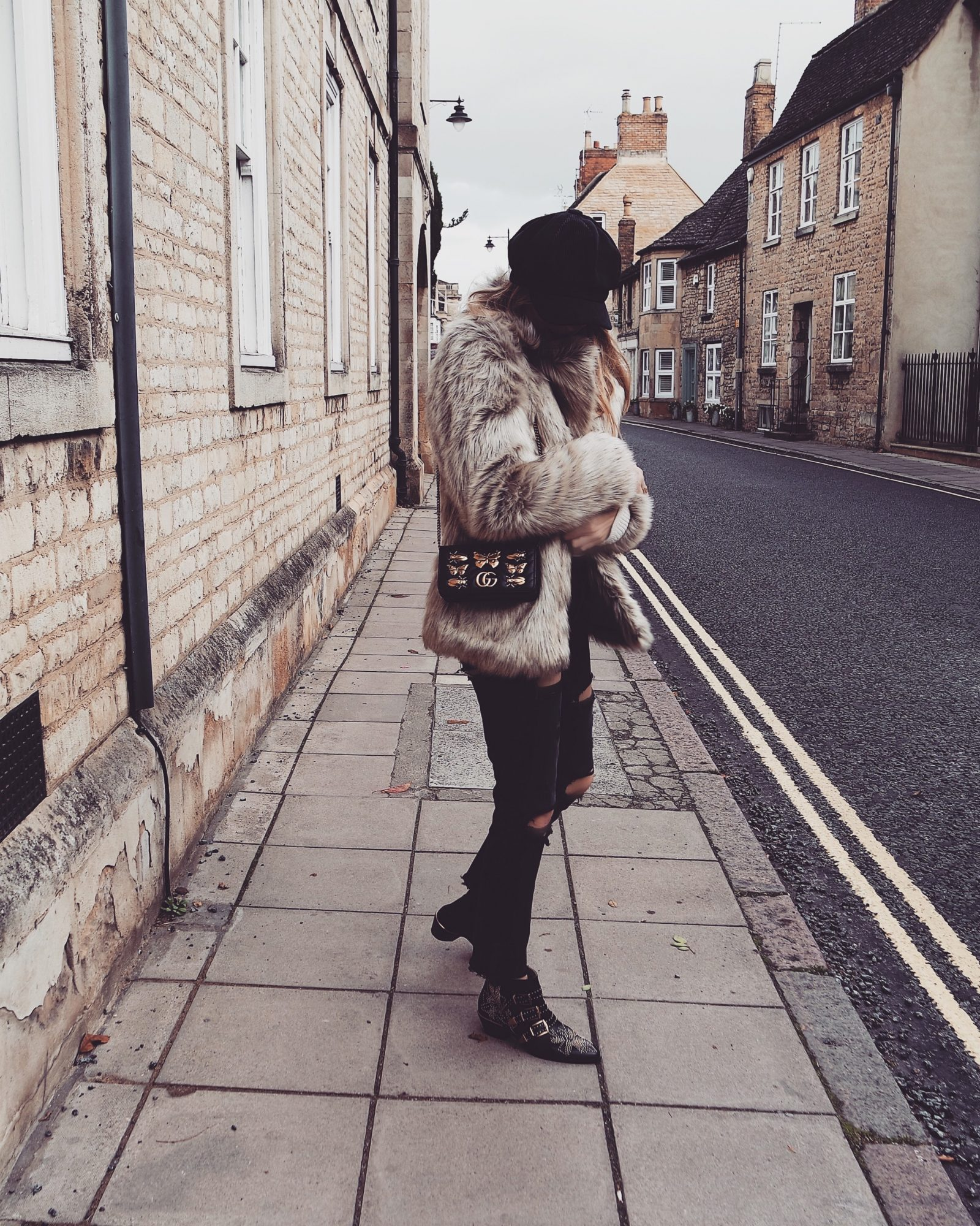 Winter Coat, Gucci Marmont Bug Bag