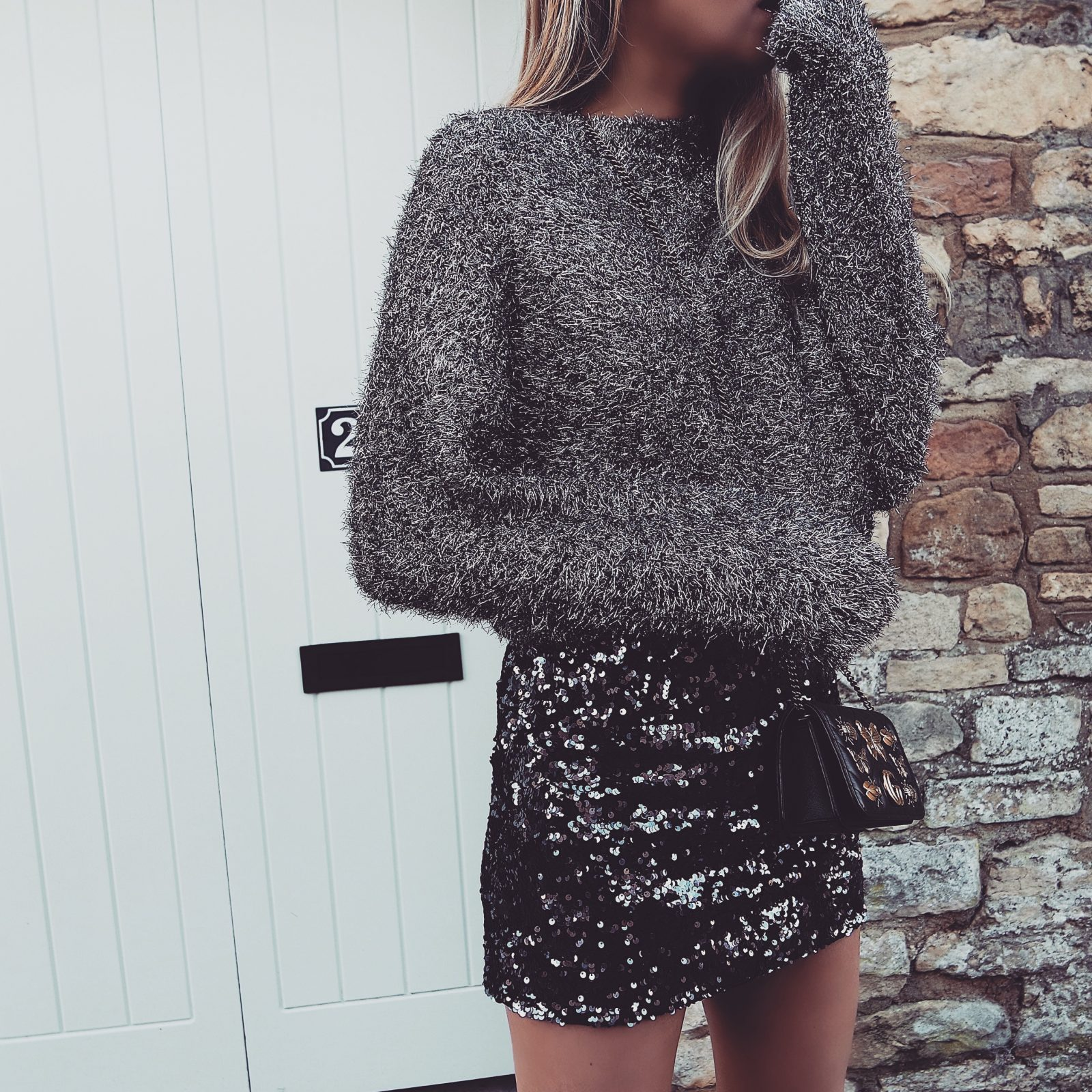Christmas Party Outfit Ideas - Silver Christmas Jumper