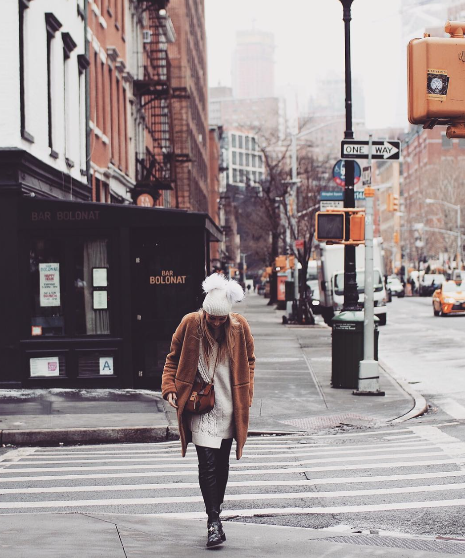 What To Wear In New York - Revolve Teddy Bear Coat