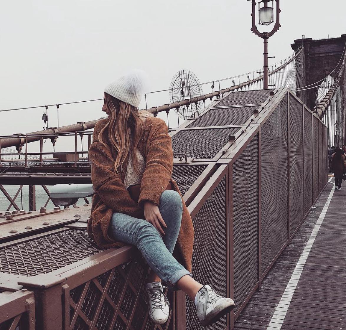 What To Wear In New York - Revolve Tularosa Coat - Brooklyn Bridge