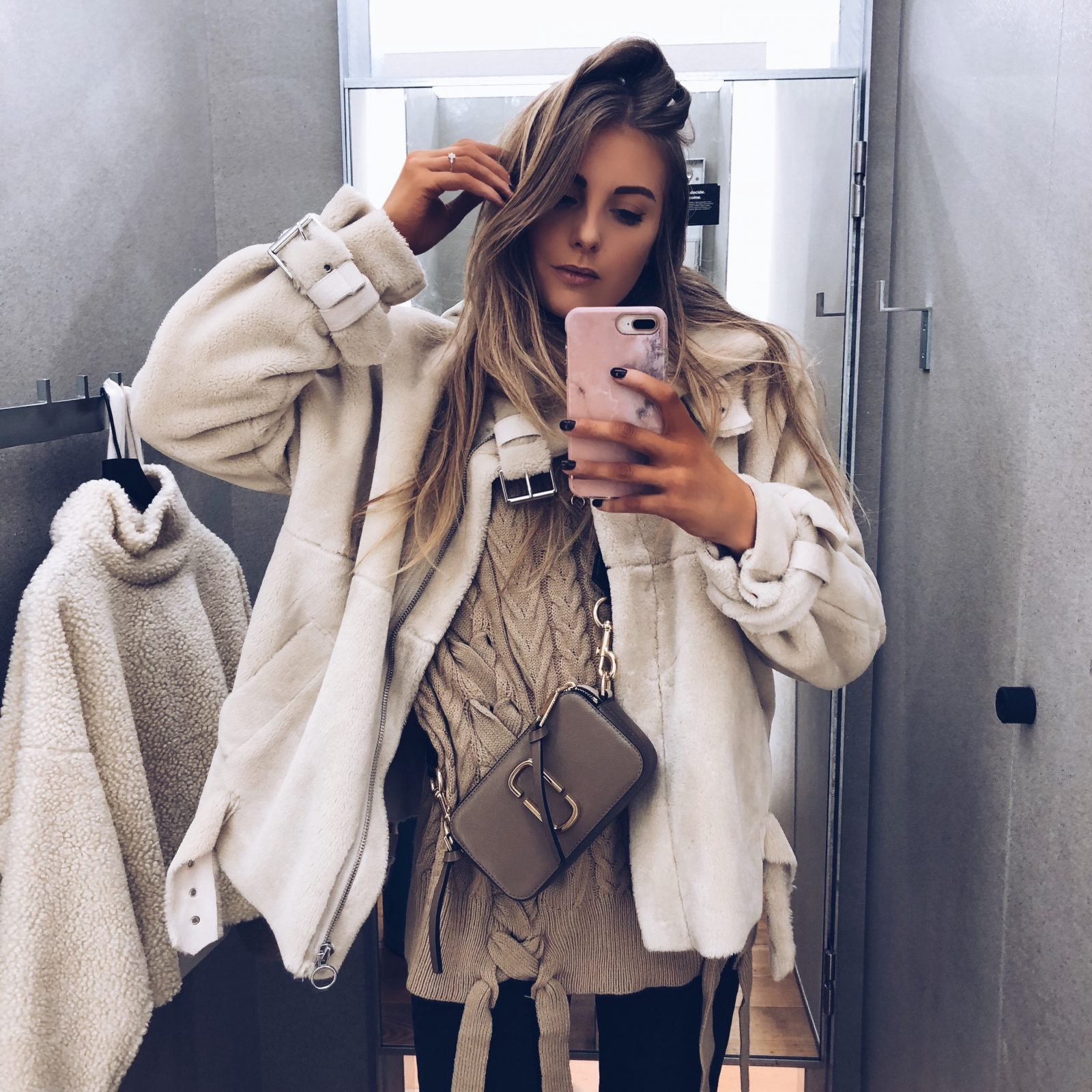 Missguided Jumper - Topshop Fur Coat