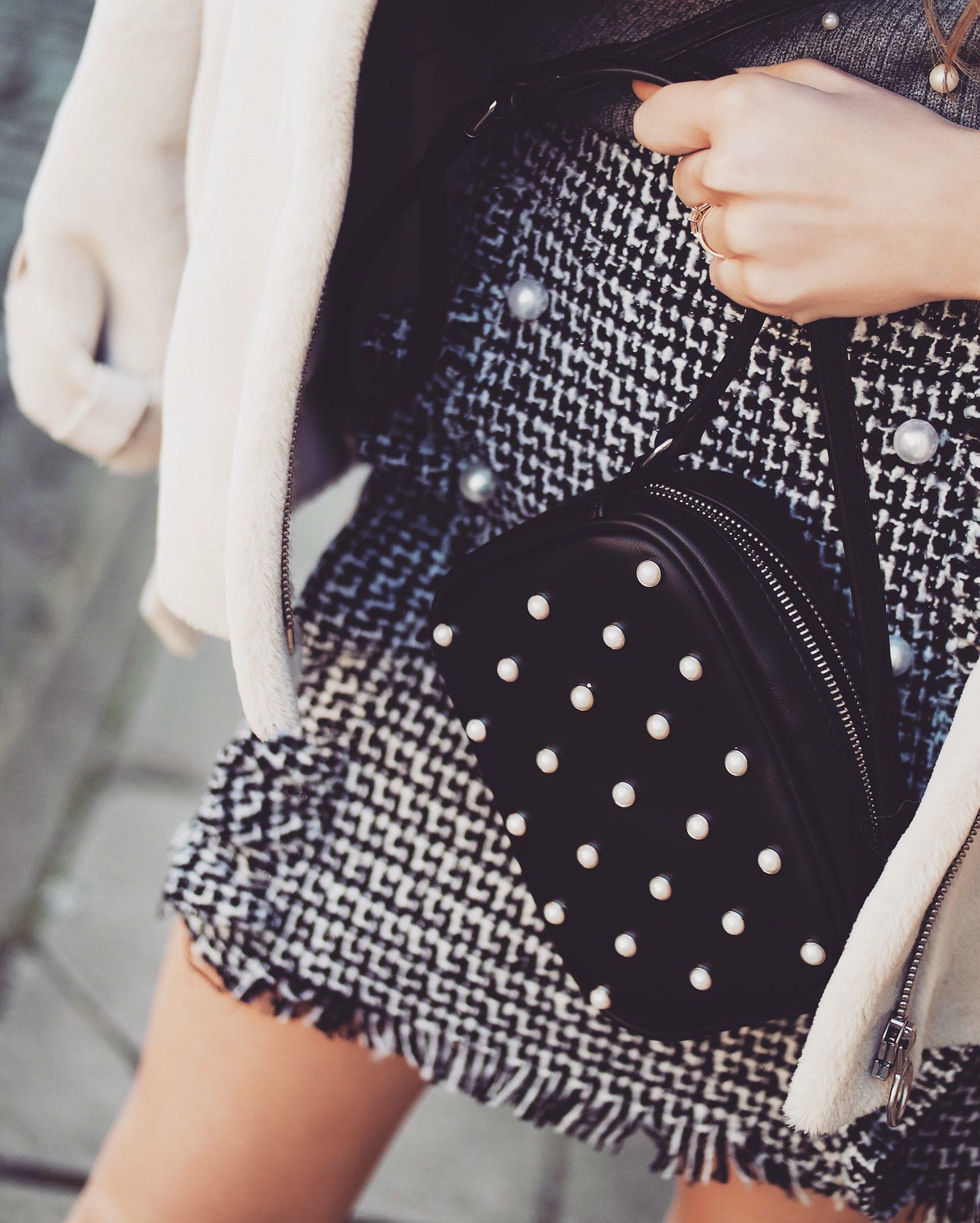 Pearl Embellished Handbag