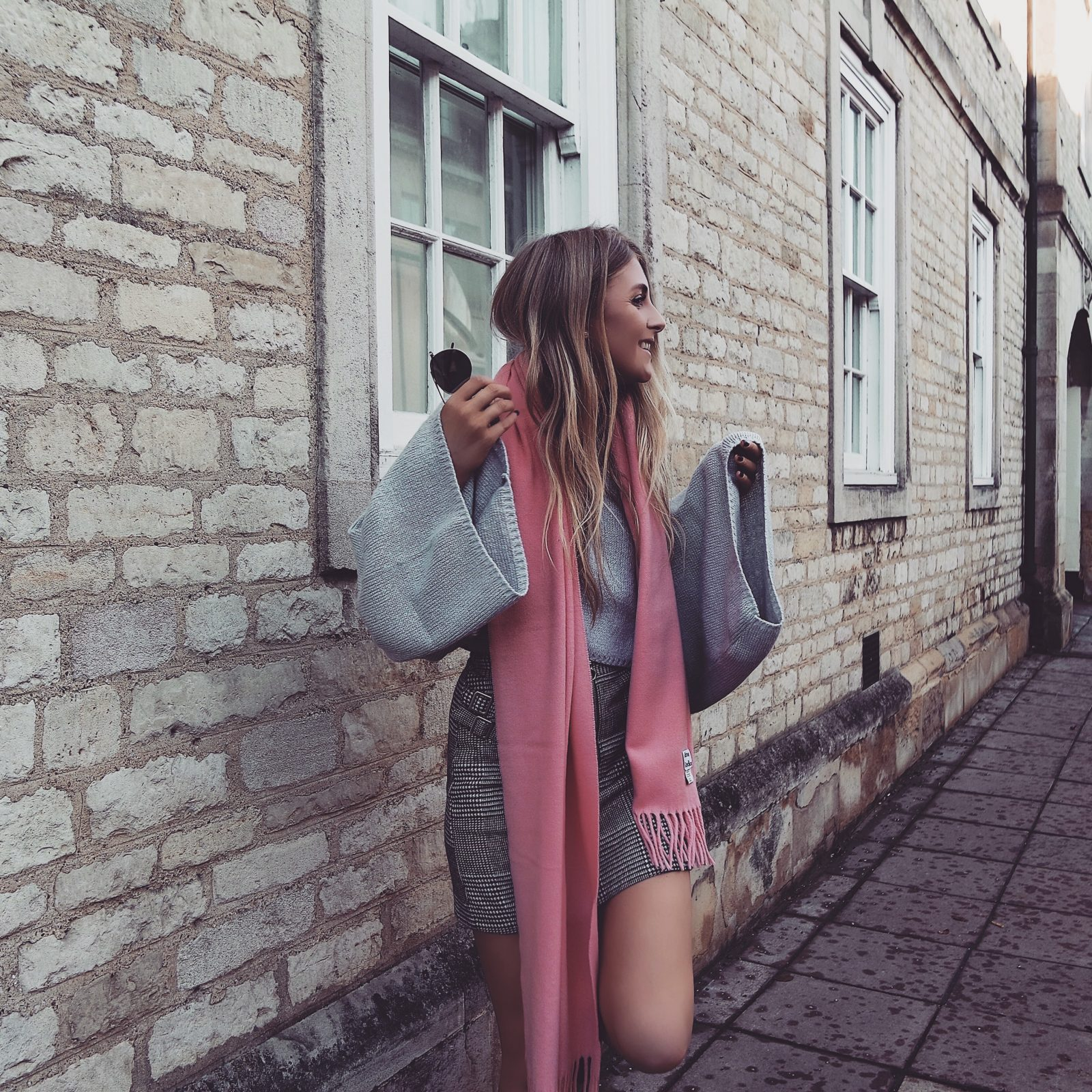 Pink Acne Scarf