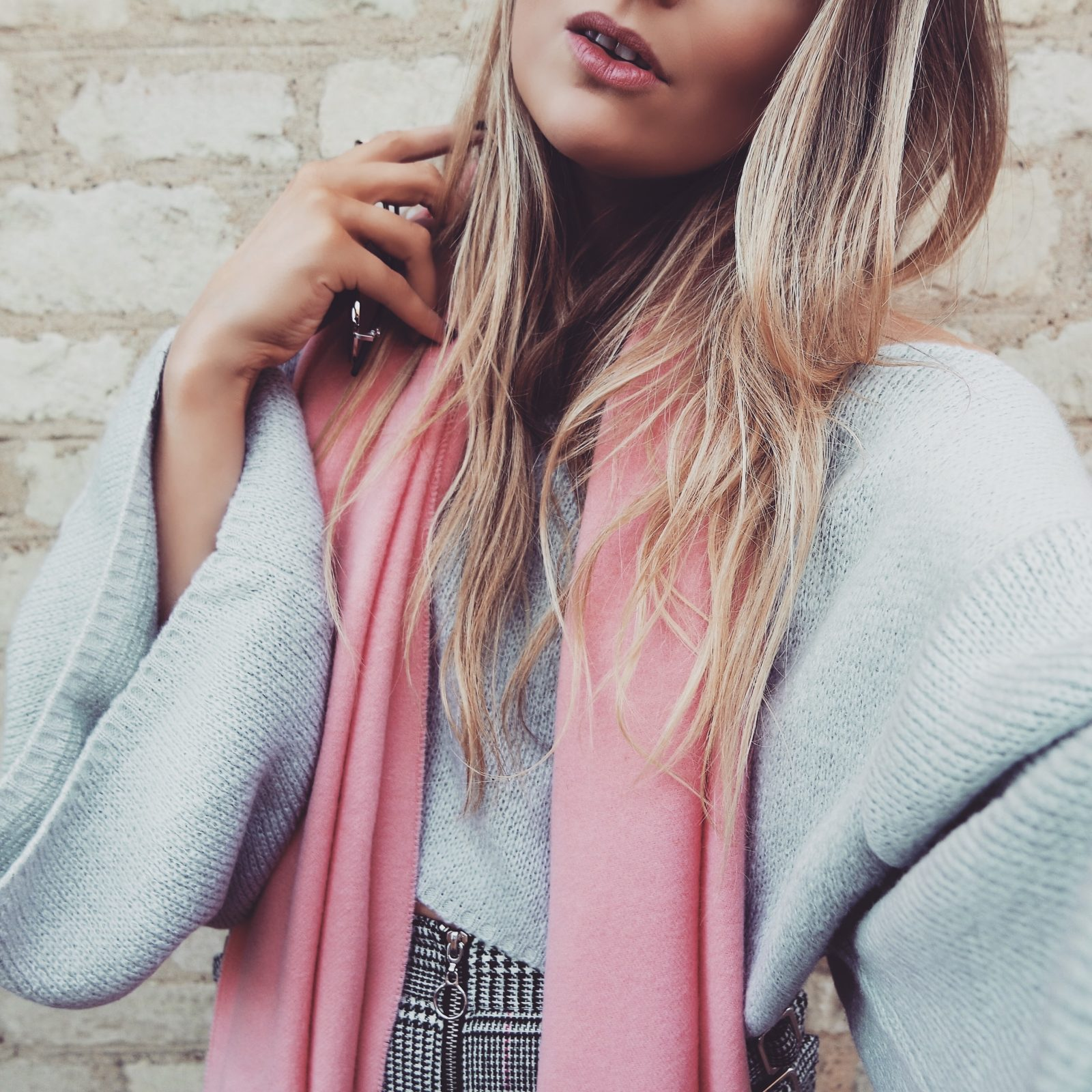 Pink Acne Scarf - Net A Porter