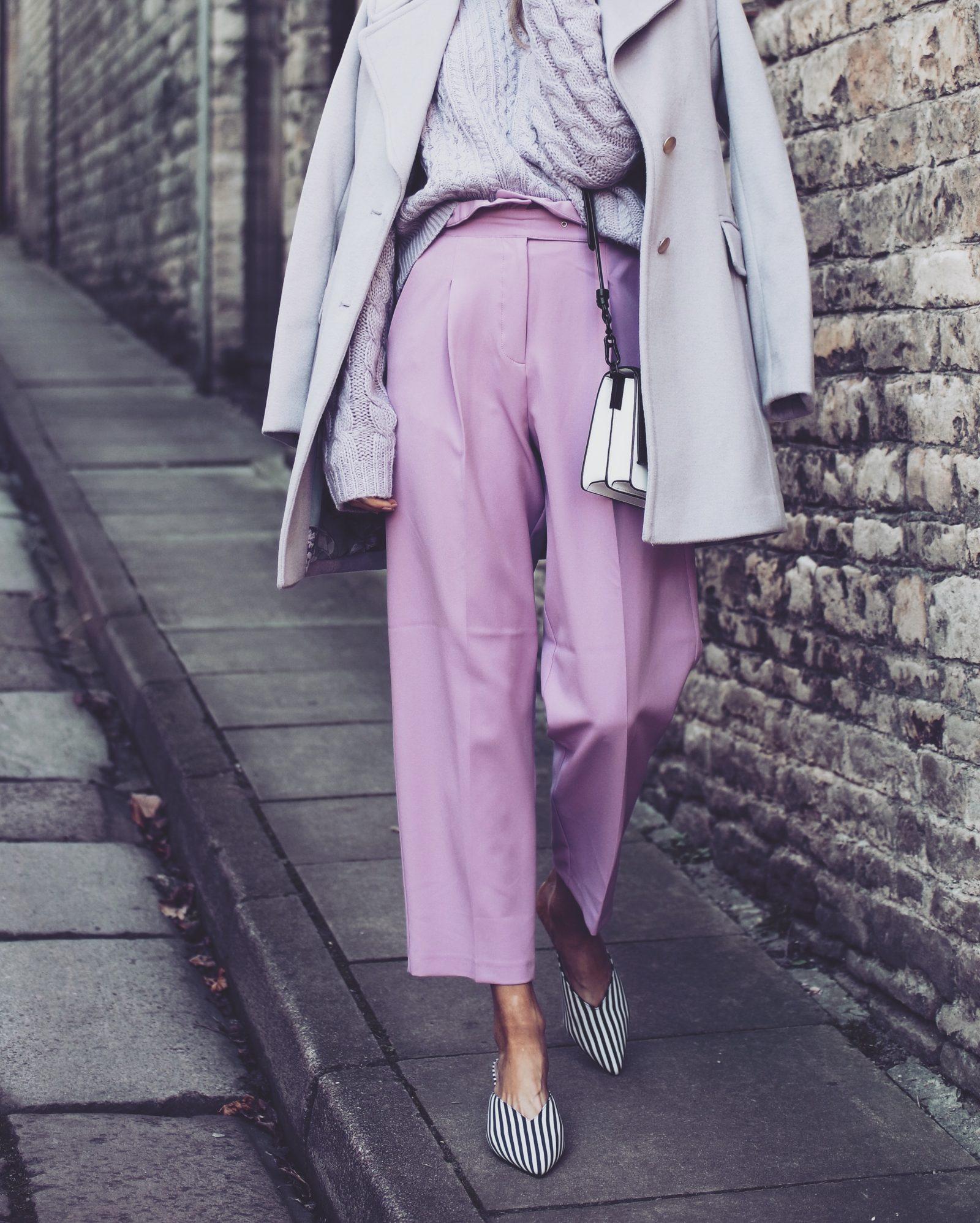 2018 Colour - Purple Asos Trousers