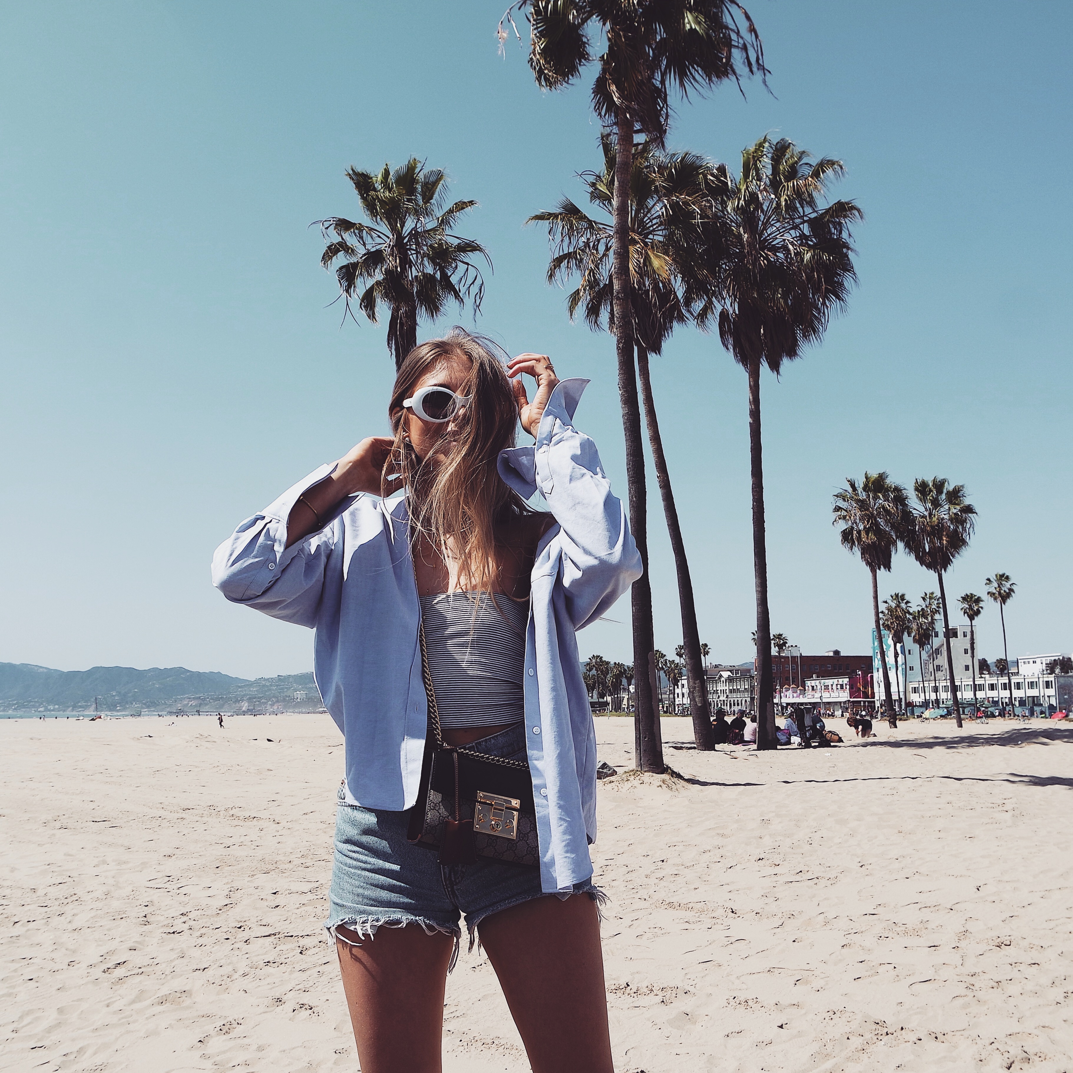 LA Haul - Blue Oversized Shirt