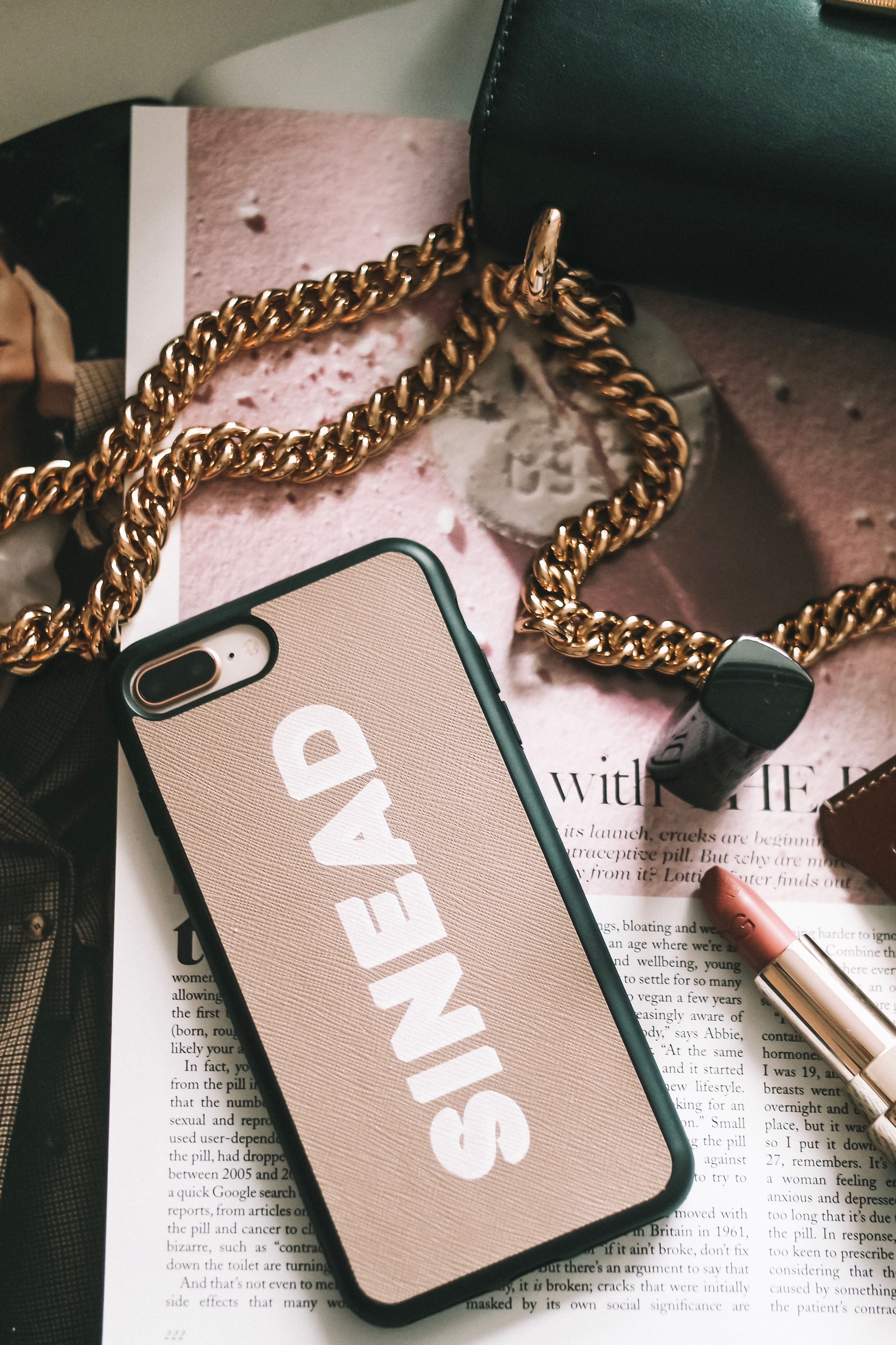 Brow TDE Leather Phone Case with Personalisation