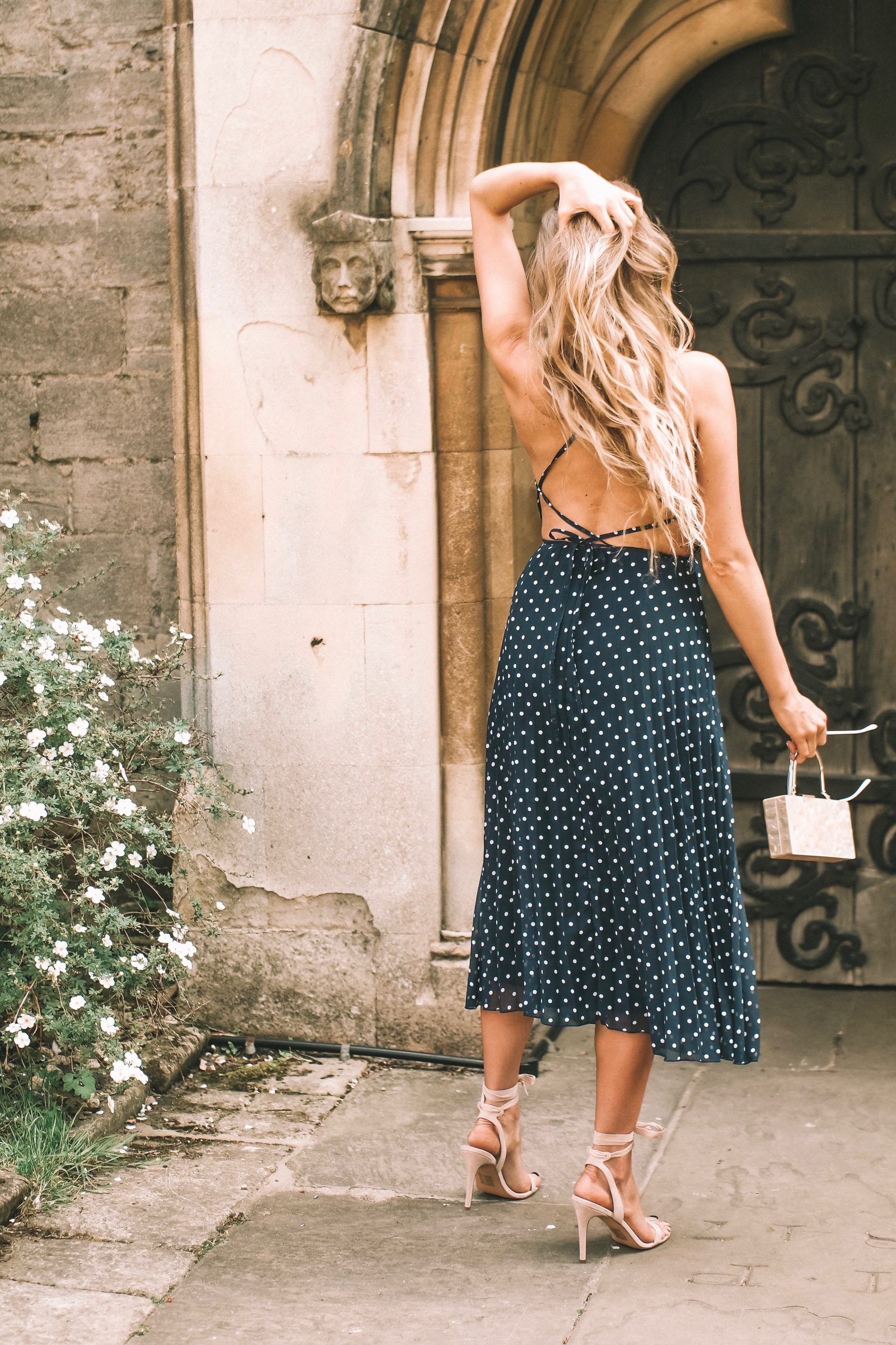 Asos Wedding Outfit Lace up Back Dress