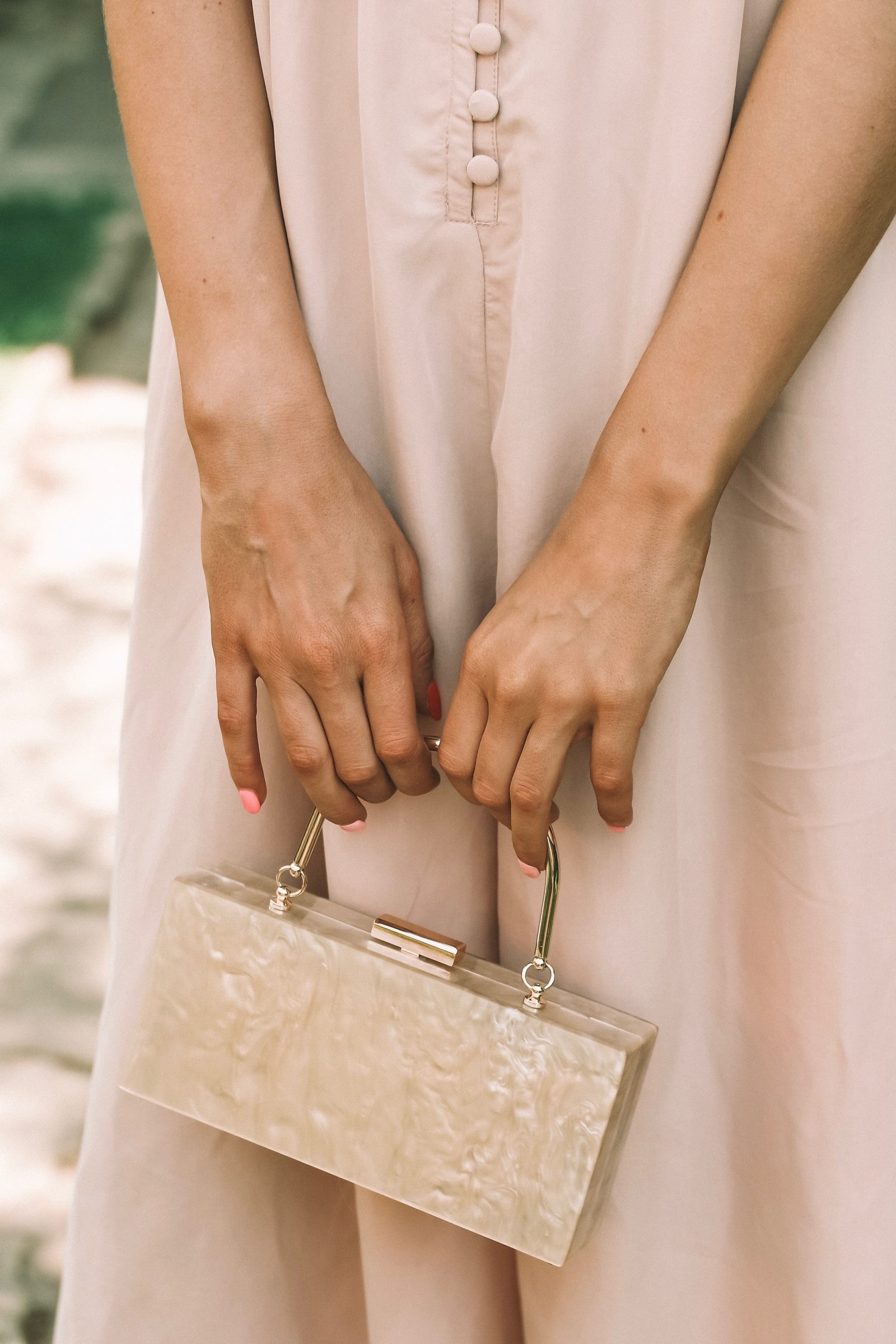 Asos Wedding Outfit - Mother Of Pearl Bag