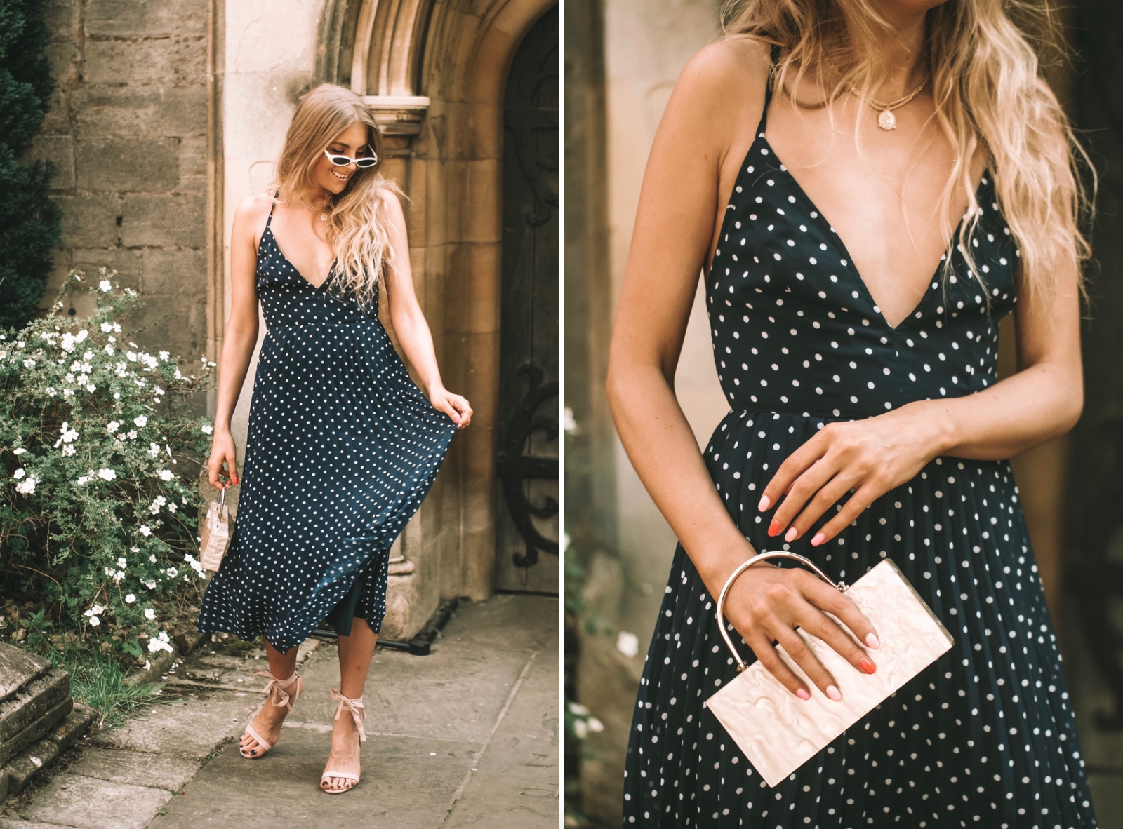 Asos Wedding Outfit - Polkadot Dress