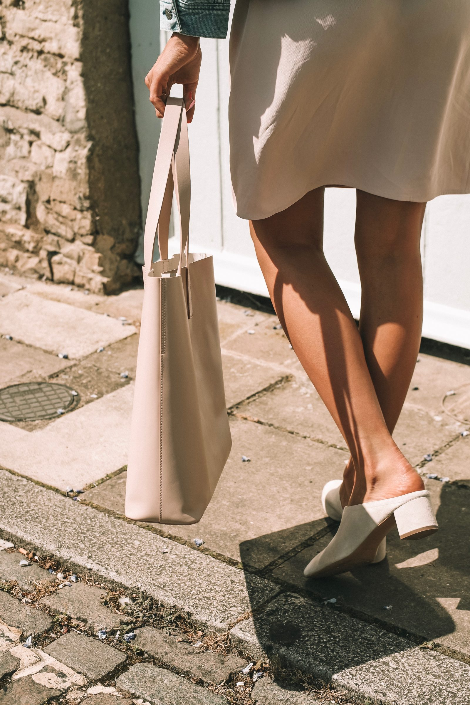 Blush Leather Everlane Day Market Tote