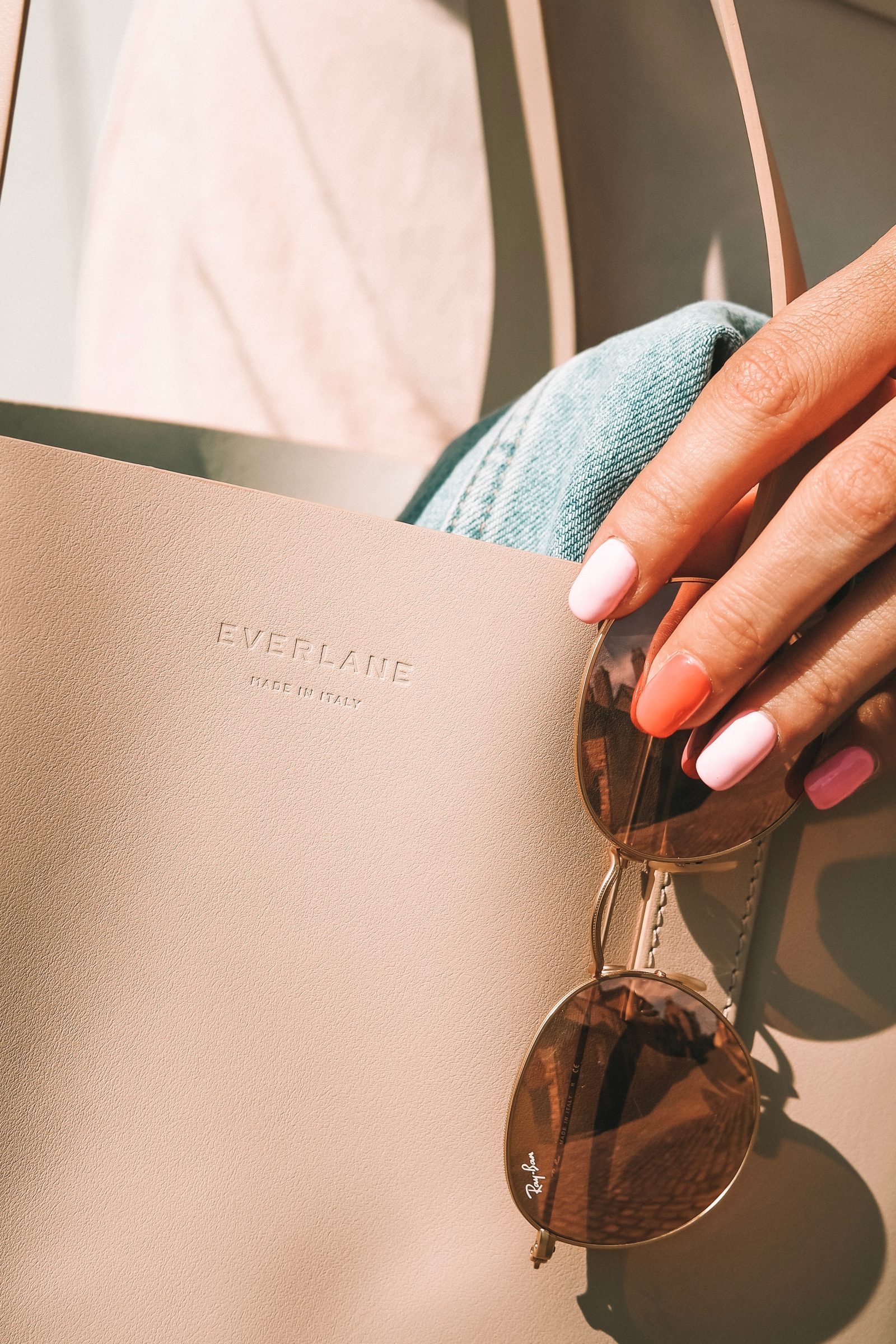 Everlane Day Market Tote - Blush Leather - Summer Nail Inspo