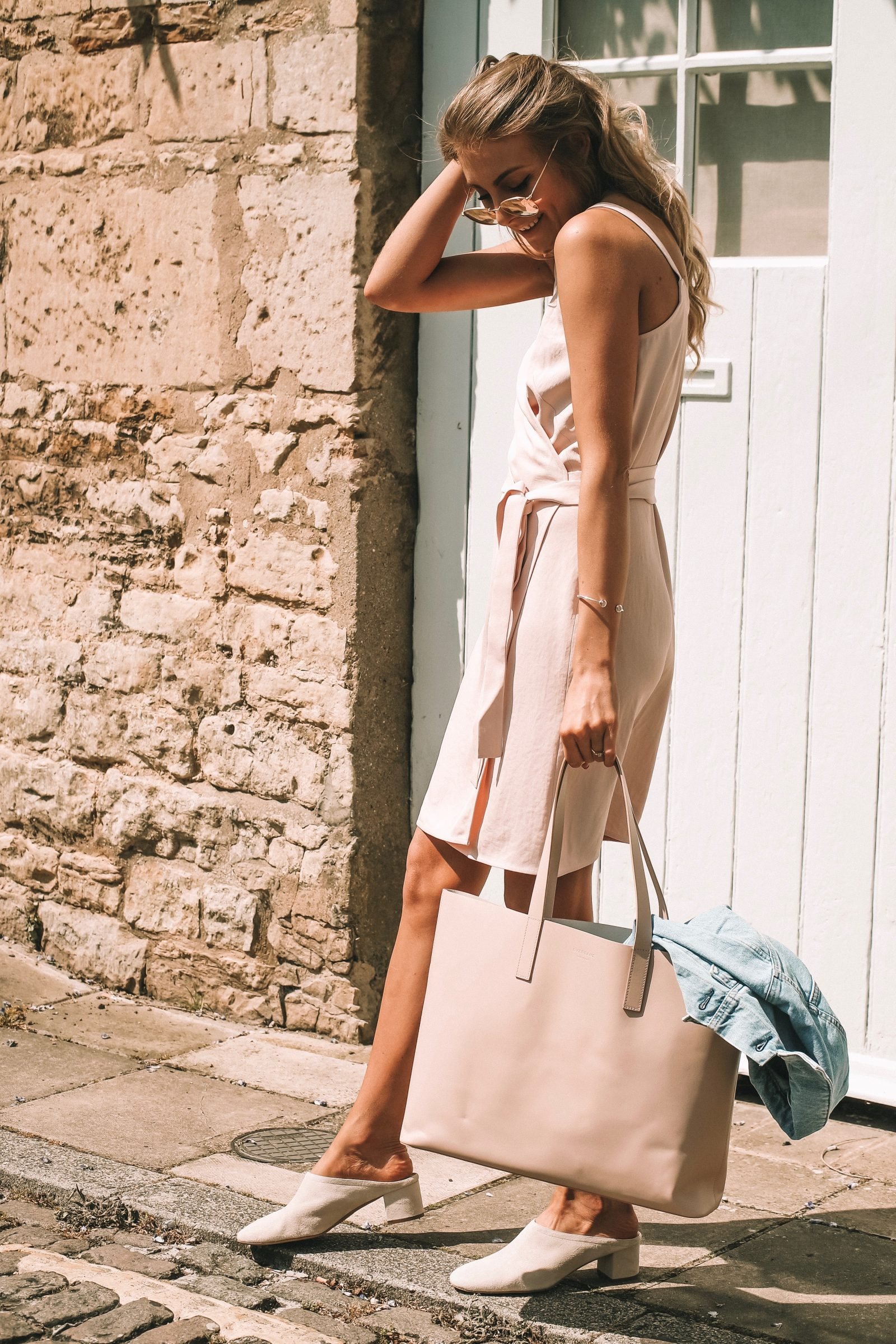 Everlane Day Market Tote - Blush Tote - Blush Summer Outfit