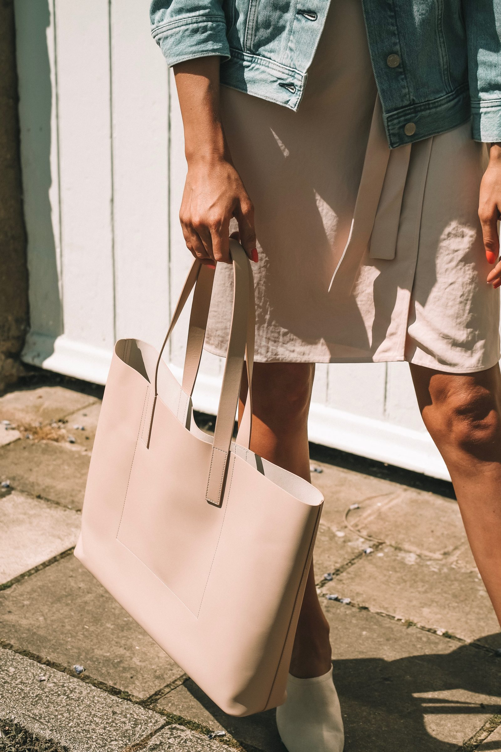 Everlane Day Market Tote - Leather - Simple Blush Leather Tote Bag