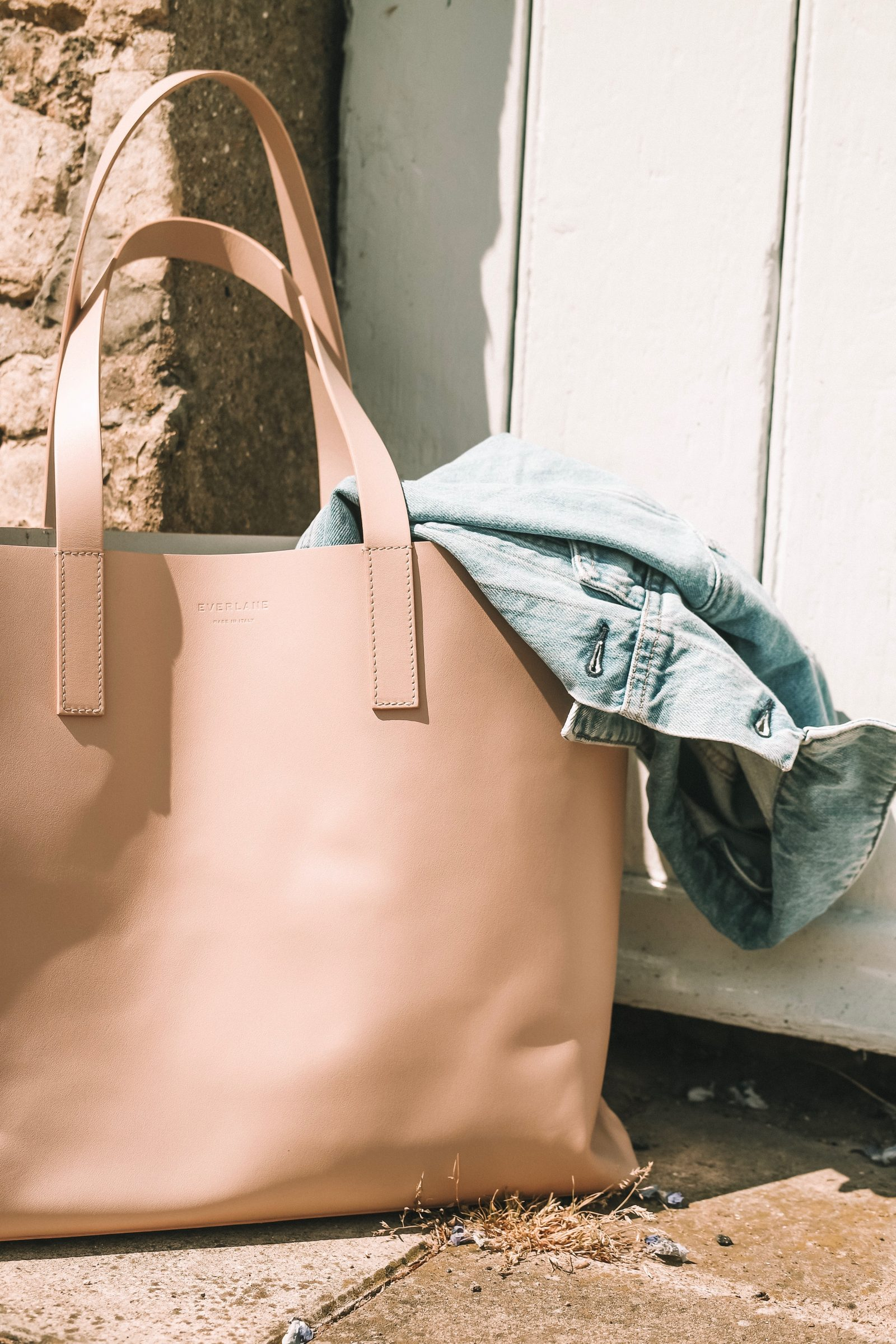 Everlane Leather Blush Day Market Tote - Summer Style